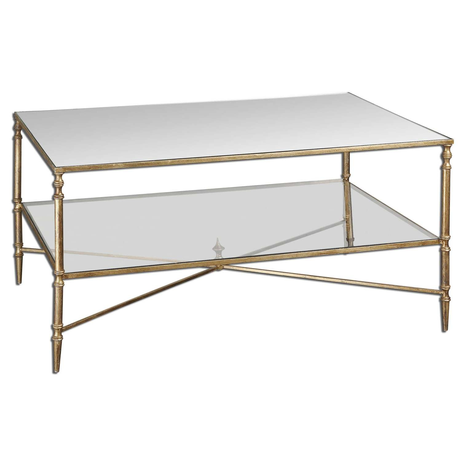 Uttermost Gold Henzler Coffee Table On Sale Regarding Most Current Rectangular Coffee Tables (View 14 of 20)