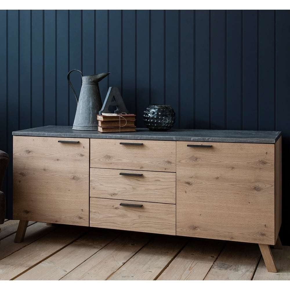 Verita Sideboard Oak & Concrete | Modern Sideboards & Buffet Tables Within Sideboards Tables (Gallery 7 of 20)