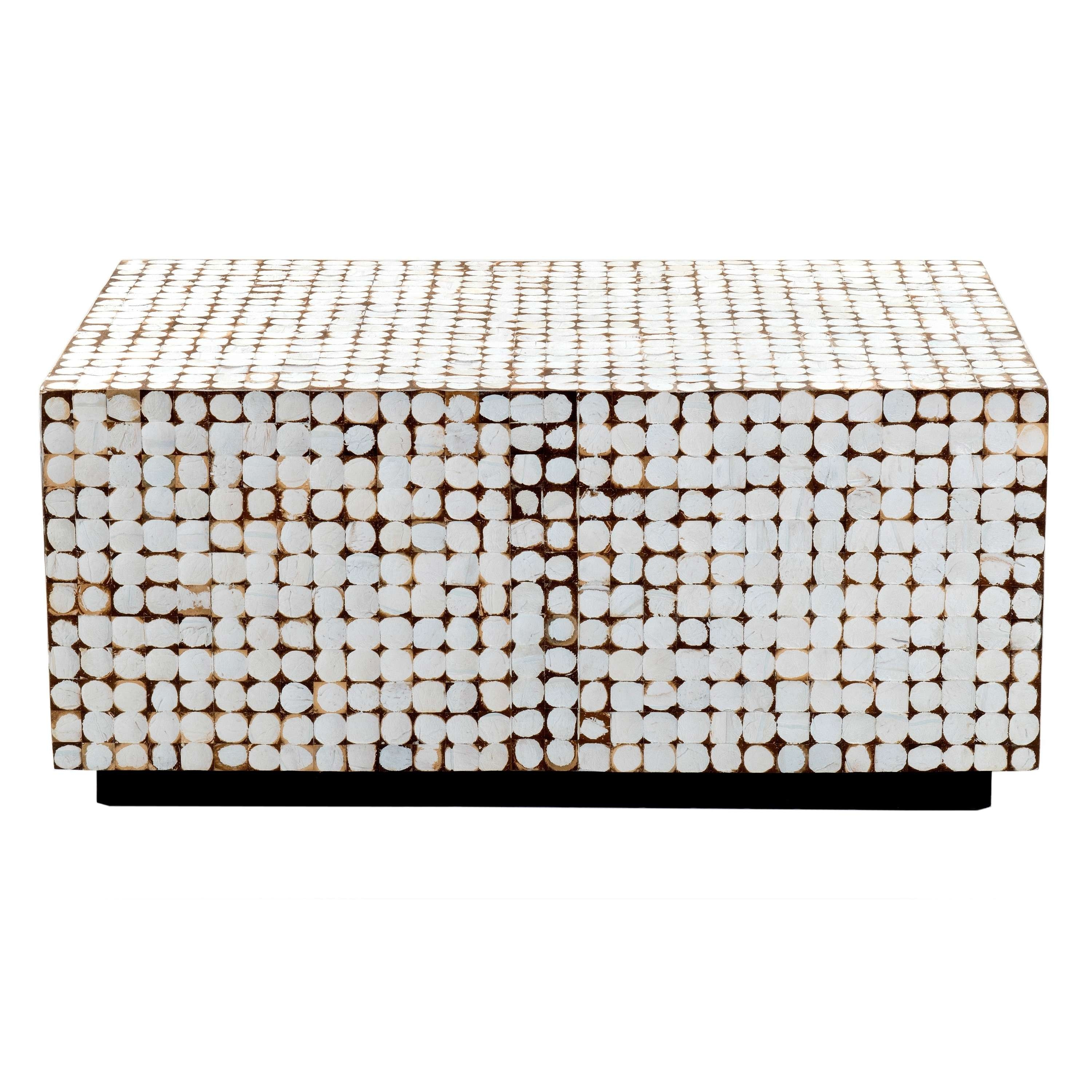 Verona White Rectangle Coffee Table – Free Shipping Today In Fashionable Verona Coffee Tables (Gallery 14 of 20)