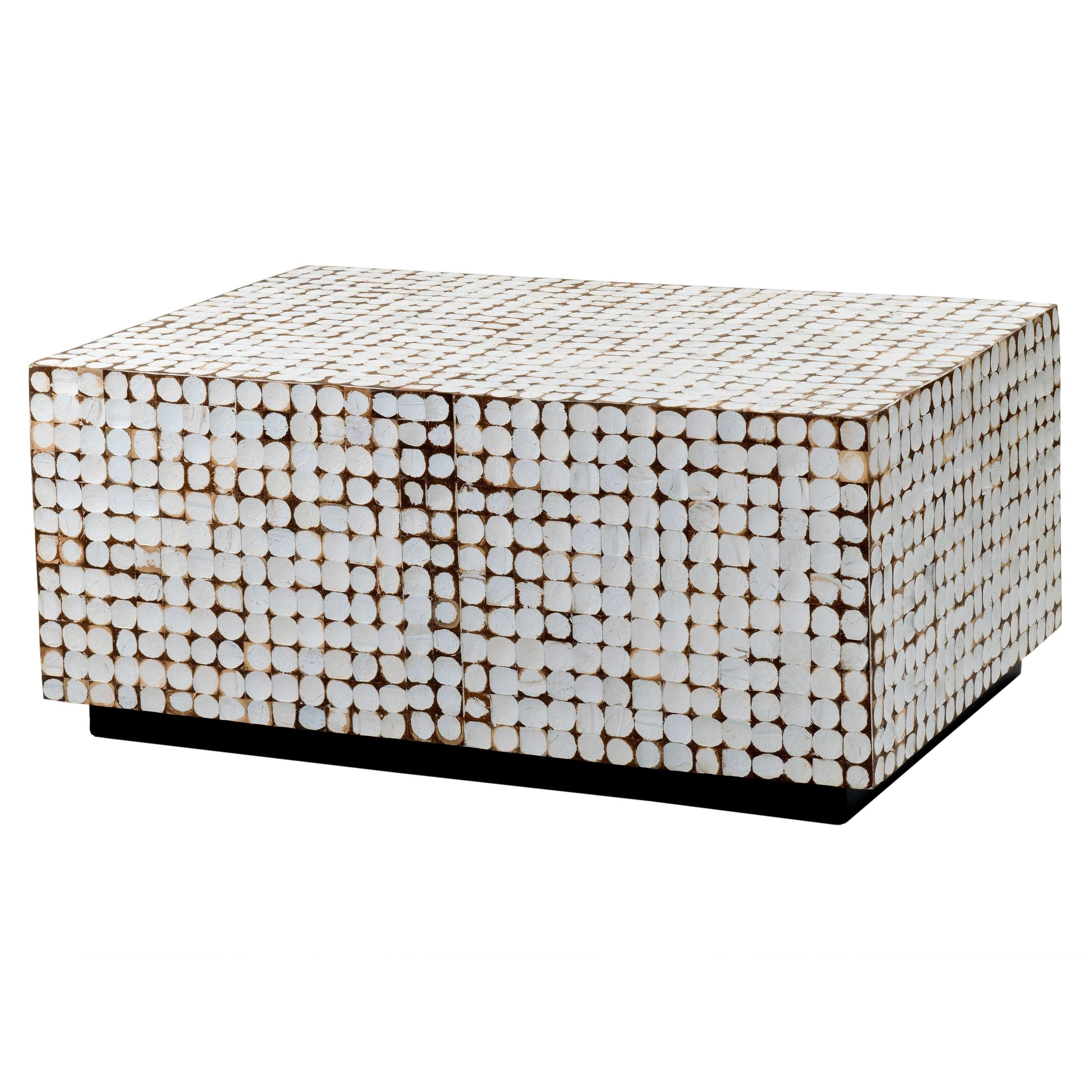 Verona White Rectangle Coffee Table – Free Shipping Today Intended For Most Current Verona Coffee Tables (Gallery 11 of 20)