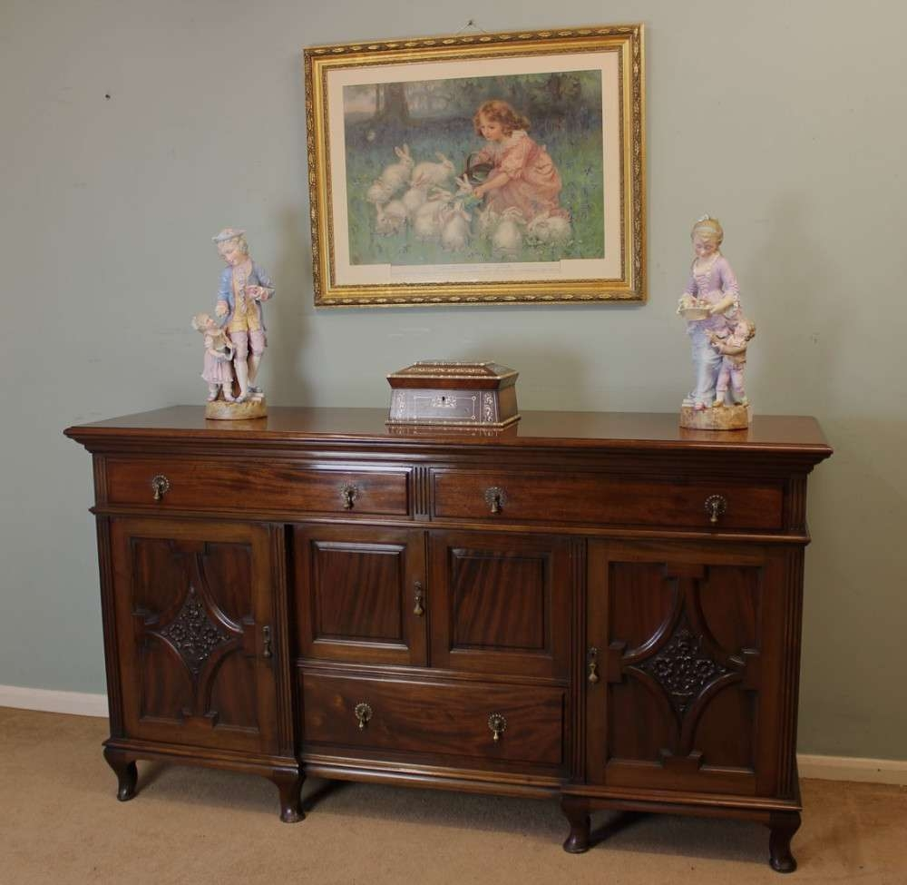 Victorian 19Th Century Mahogany Sideboard Base, | 260190 With Regard To Mahogany Sideboards (View 20 of 20)