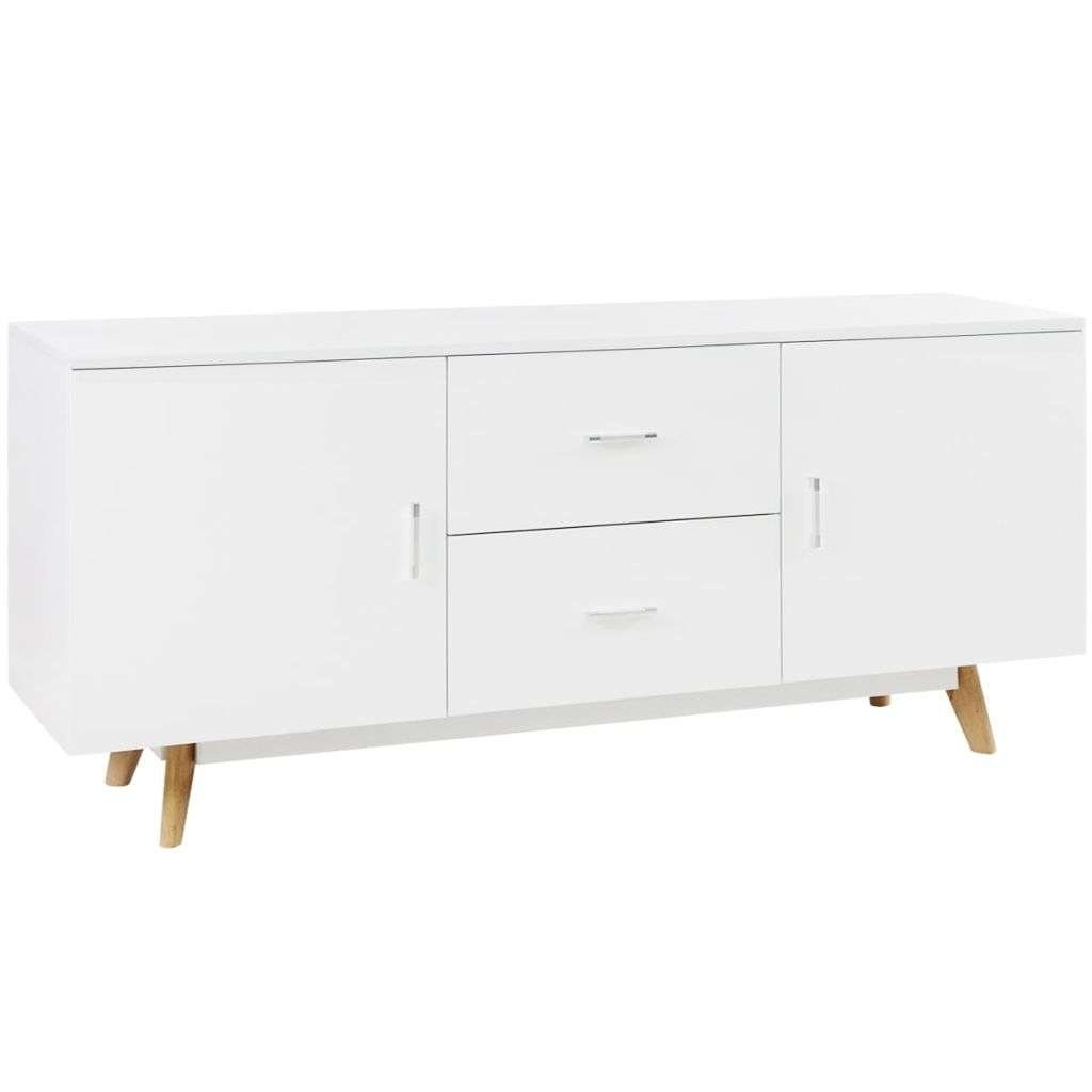Vidaxl High Gloss Sideboard 160X40X70 Cm Mdf White | Vidaxl.co.uk For White High Gloss Sideboards (Gallery 15 of 20)