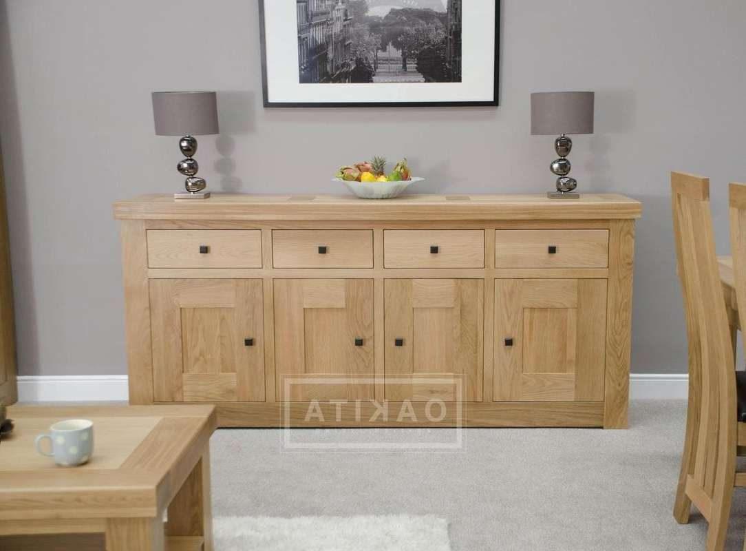 Vienna Extra Large Light Oak Sideboard – Oak Sideboards – Oak Within Sideboards Furniture (View 19 of 20)