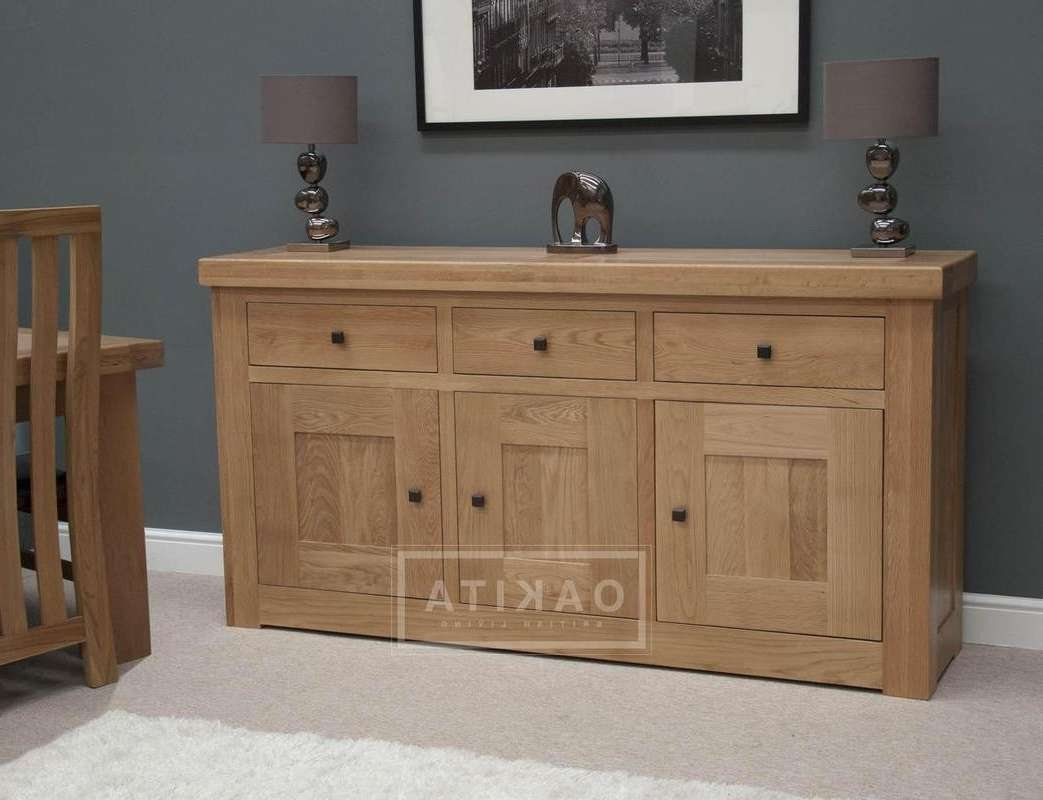 Vienna Large Light Oak Sideboard Within Oak Sideboards (View 18 of 20)