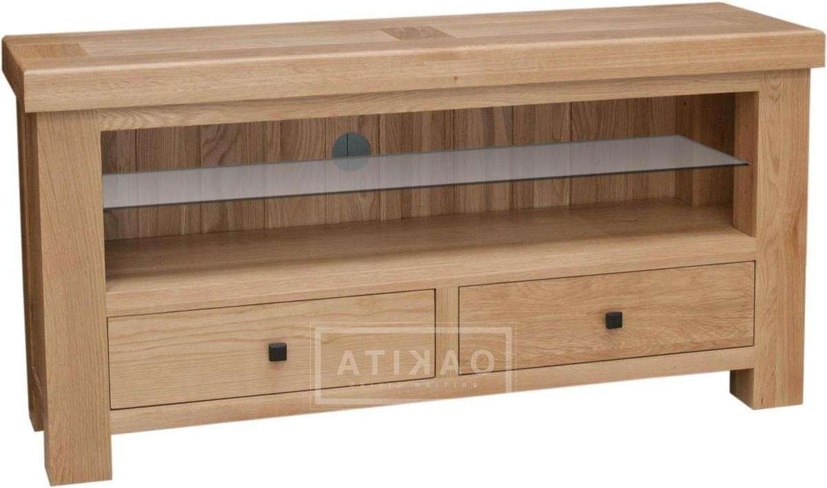 Vienna Light Oak Tv Cabinet – Oak Tv Stands & Entertainment Throughout Oak Tv Cabinets (View 19 of 20)