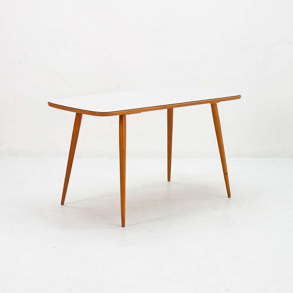 Vintage Beech And Formica Coffee Table, 1950S For Sale At Pamono Within Fashionable Beech Coffee Tables (Gallery 9 of 20)