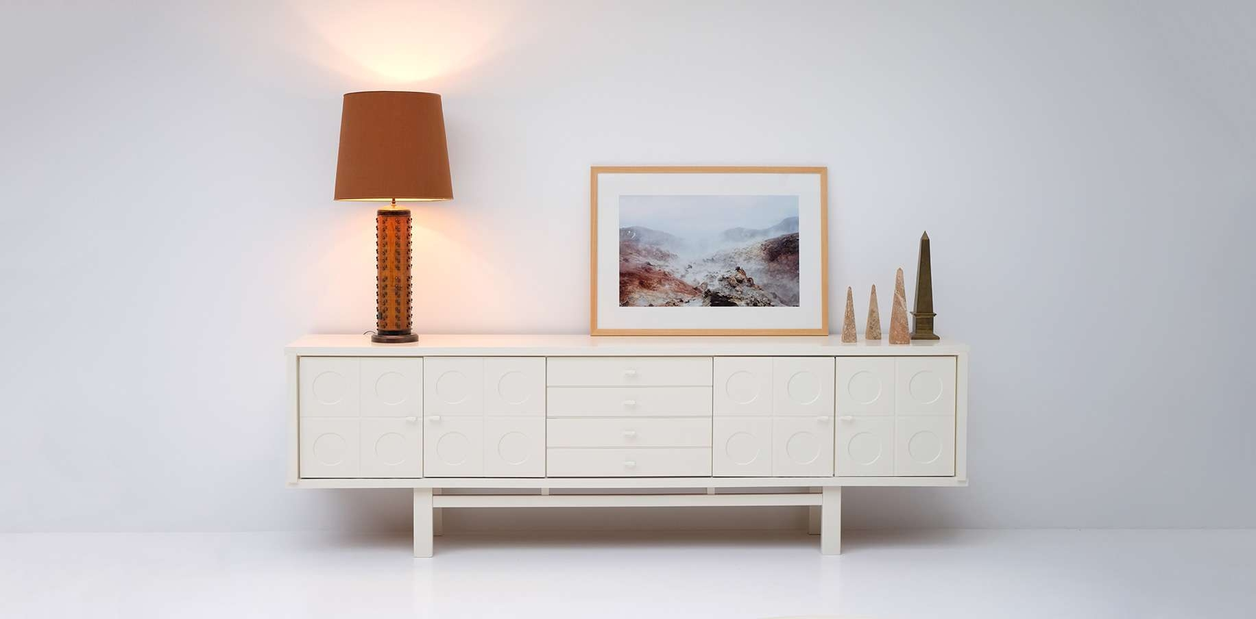 Vintage Brutalist Oak Sideboard For Sale At Pamono Within Cream And Oak Sideboards (Gallery 7 of 20)