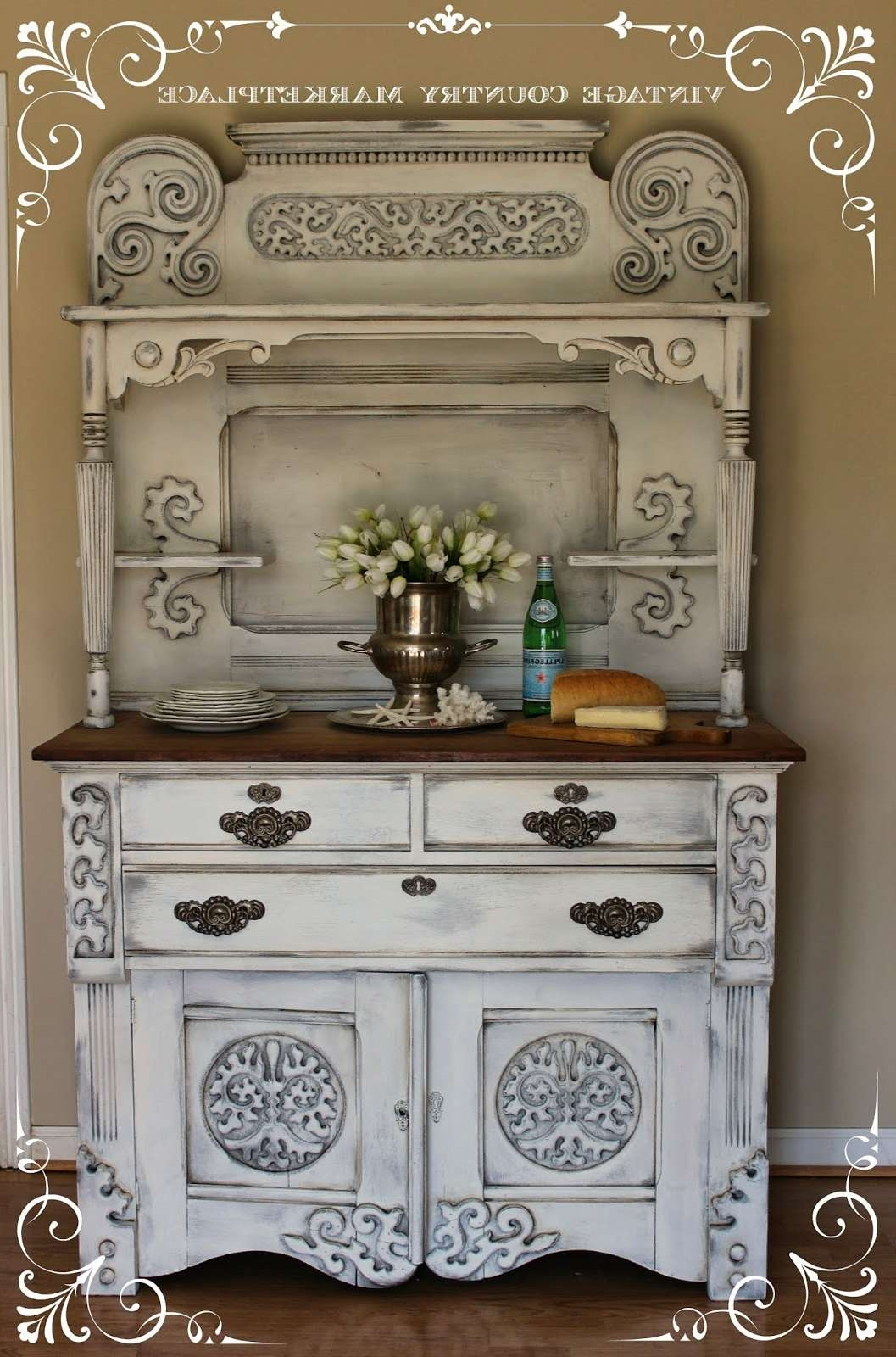 Vintage Country Style: European Sideboard Make Over Annie Sloan For Chalk Painted Sideboards (Gallery 8 of 20)