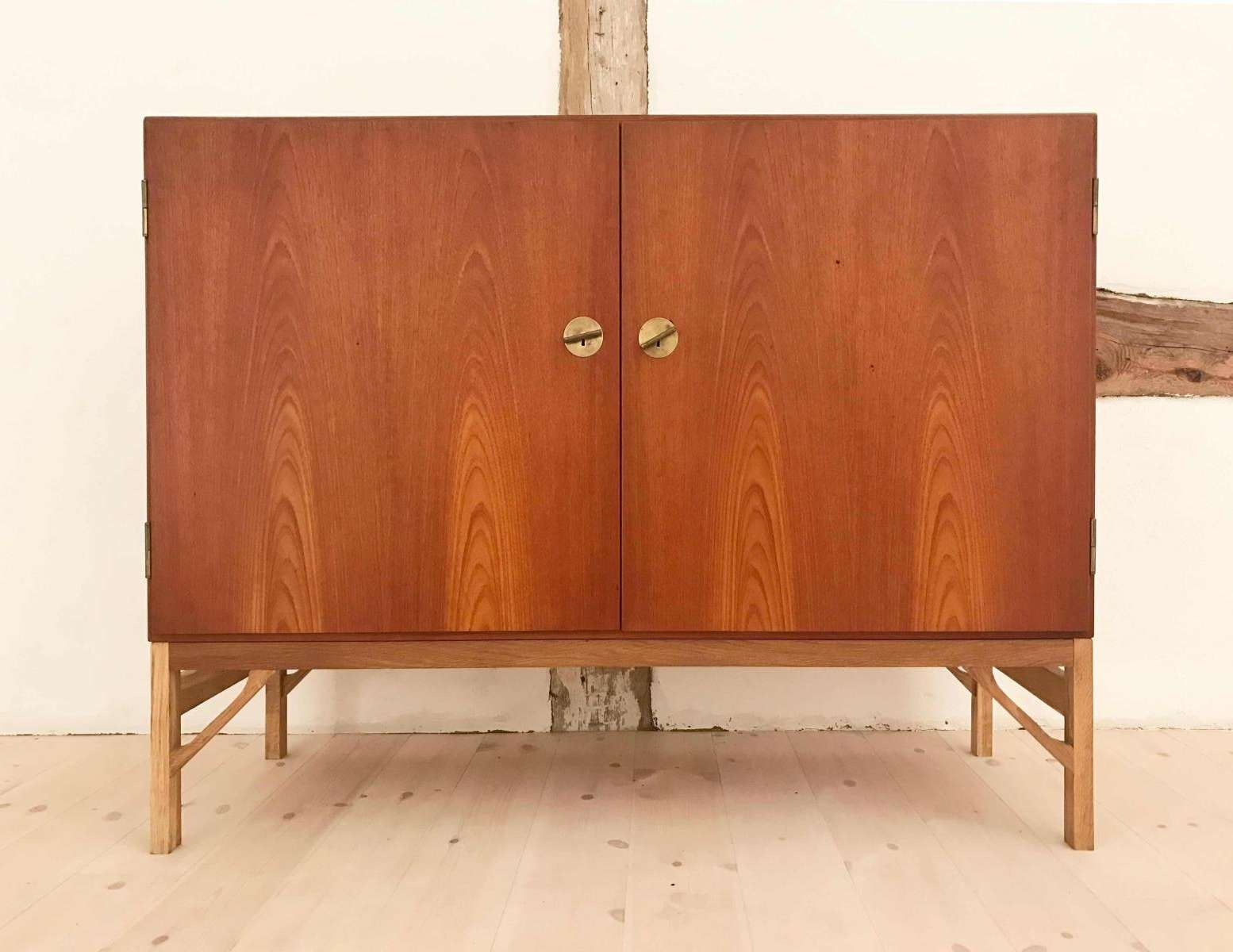 Vintage Danish Teak Sideboard With 2 Doorsbørge Mogensen For Throughout Danish Retro Sideboards (Gallery 7 of 20)
