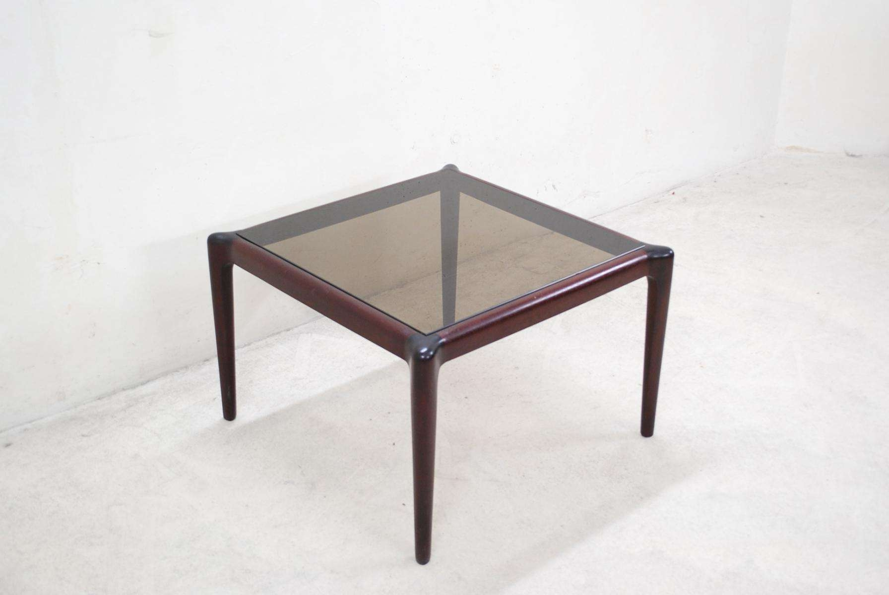 Vintage Mahogony & Smoked Glass Coffee Table For Sale At Pamono Intended For Recent Retro Smoked Glass Coffee Tables (Gallery 1 of 20)