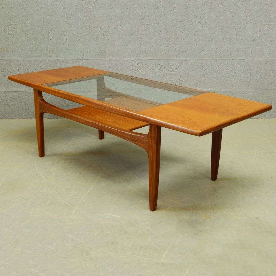 Vintage Mid Century Glass Coffee Table — All Furniture : Ideas Mid Pertaining To Well Known Retro Teak Glass Coffee Tables (Gallery 17 of 20)