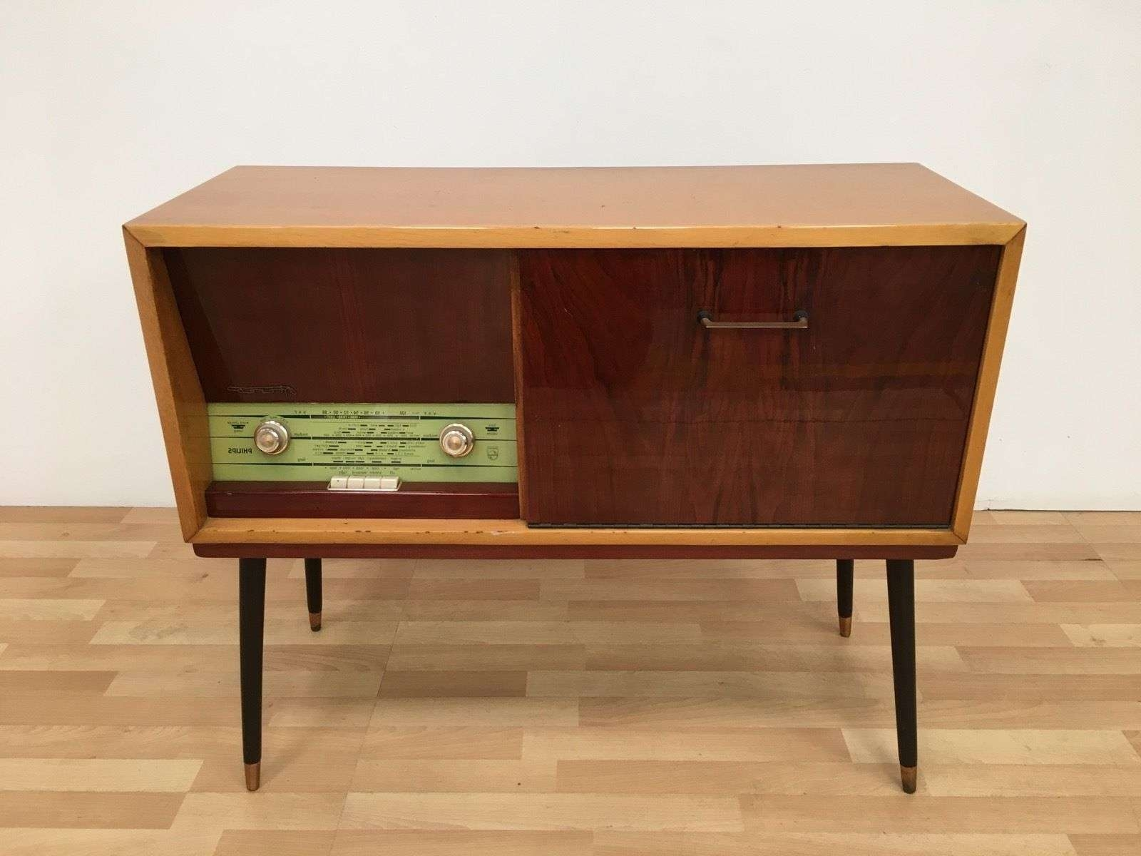 Vintage Retro Mid Century 50S 60S Philips Stereo Radiogram With Regard To 50S Sideboards (Gallery 3 of 20)