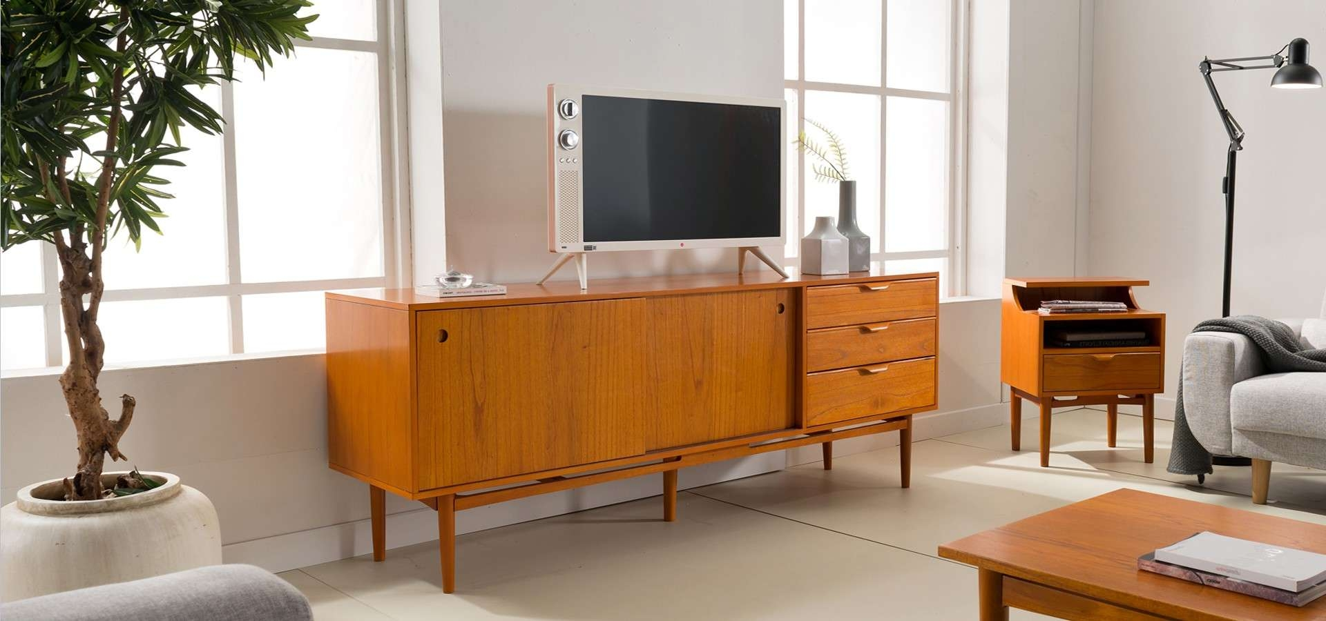 Vintage Sideboard (tv Cabinet) | Furniture Shop Singapore Within Danish Retro Sideboards (View 9 of 20)