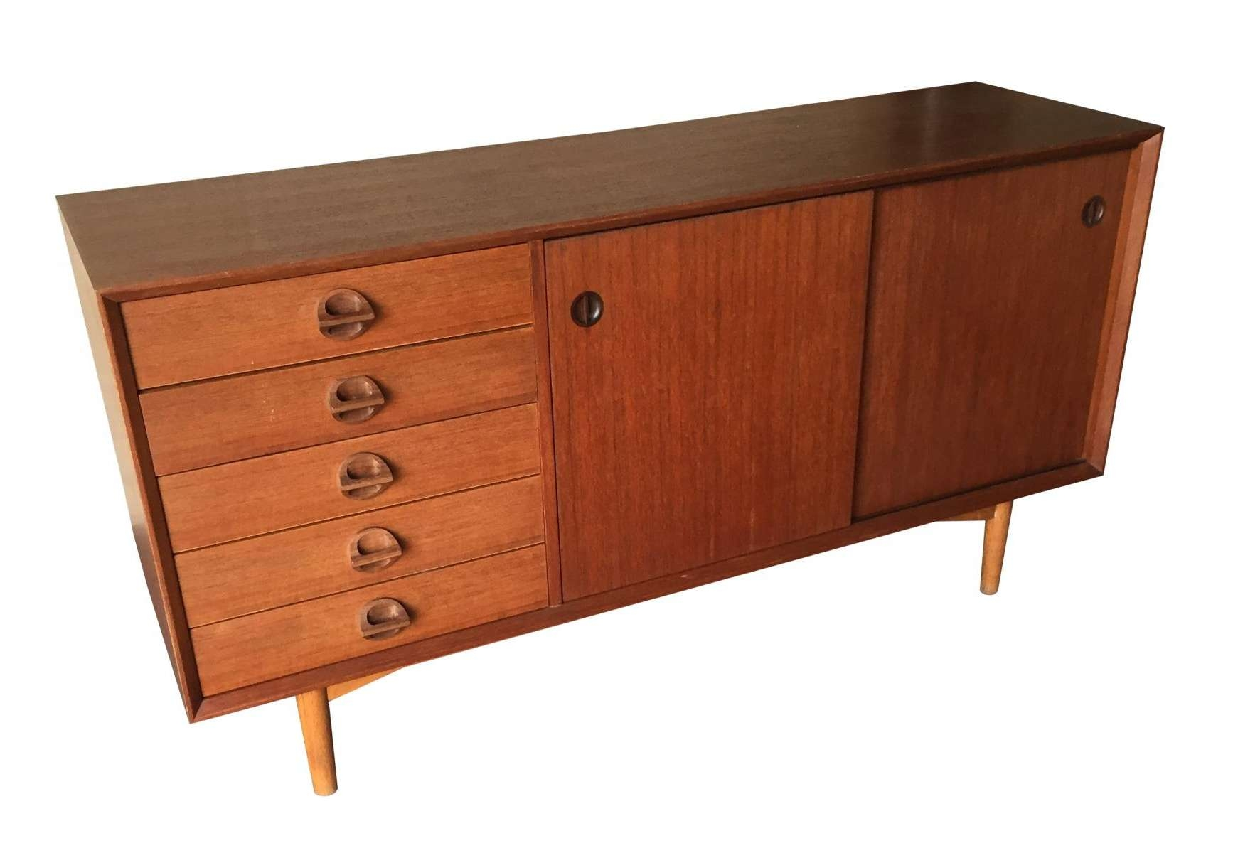 Vintage Sideboard With Sliding Doors, 1960S For Sale At Pamono Intended For Vintage Sideboards And Buffets (Gallery 17 of 20)