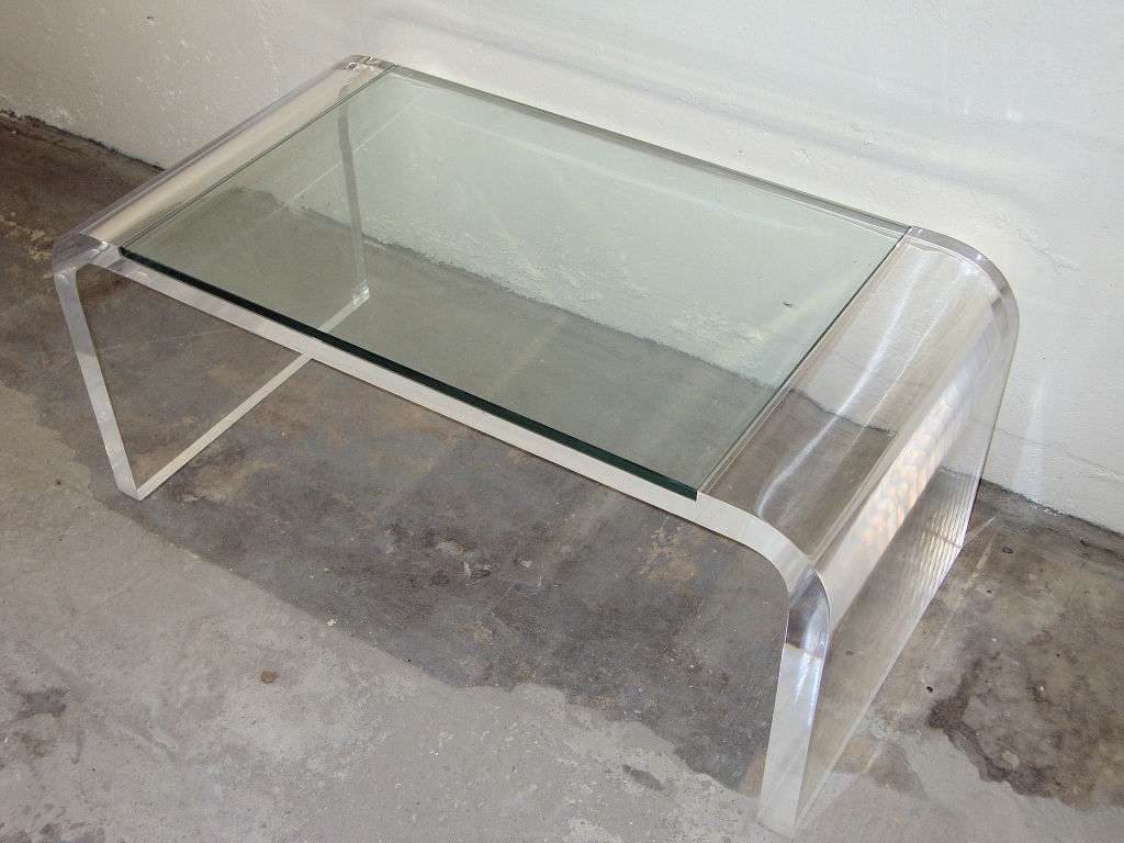 Vintage Style Lucite Coffee Table — Bed And Shower Bed And Shower With Regard To 2018 Perspex Coffee Table (Gallery 7 of 20)