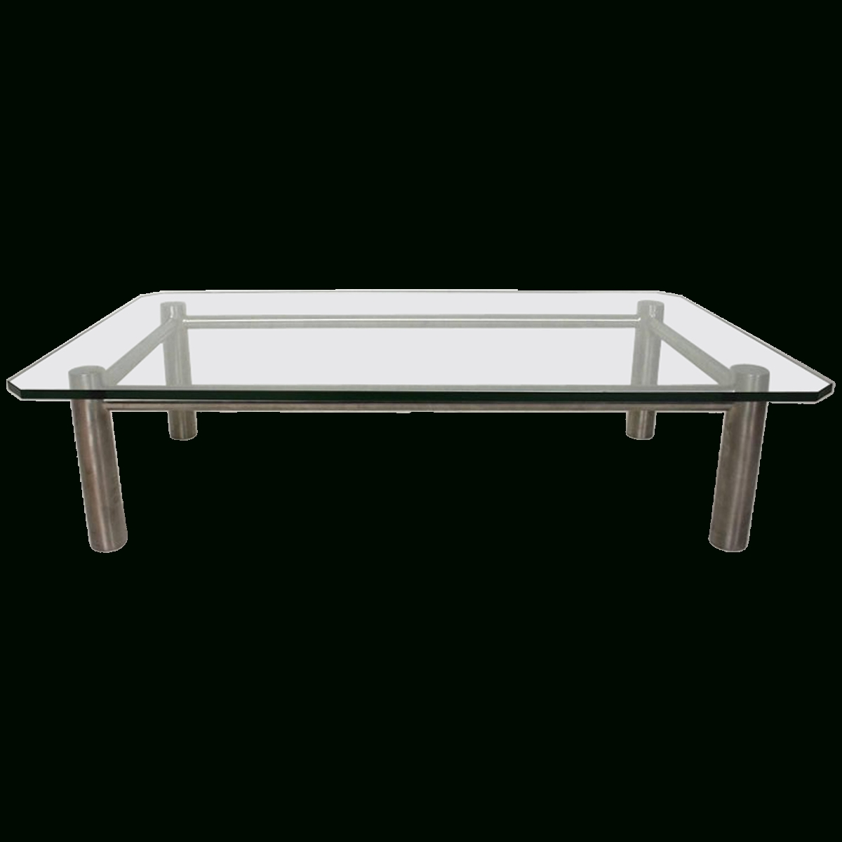 Viyet – Designer Furniture – Tables – Benchmark Vintage Stainless With Regard To Fashionable Steel And Glass Coffee Tables (Gallery 16 of 20)
