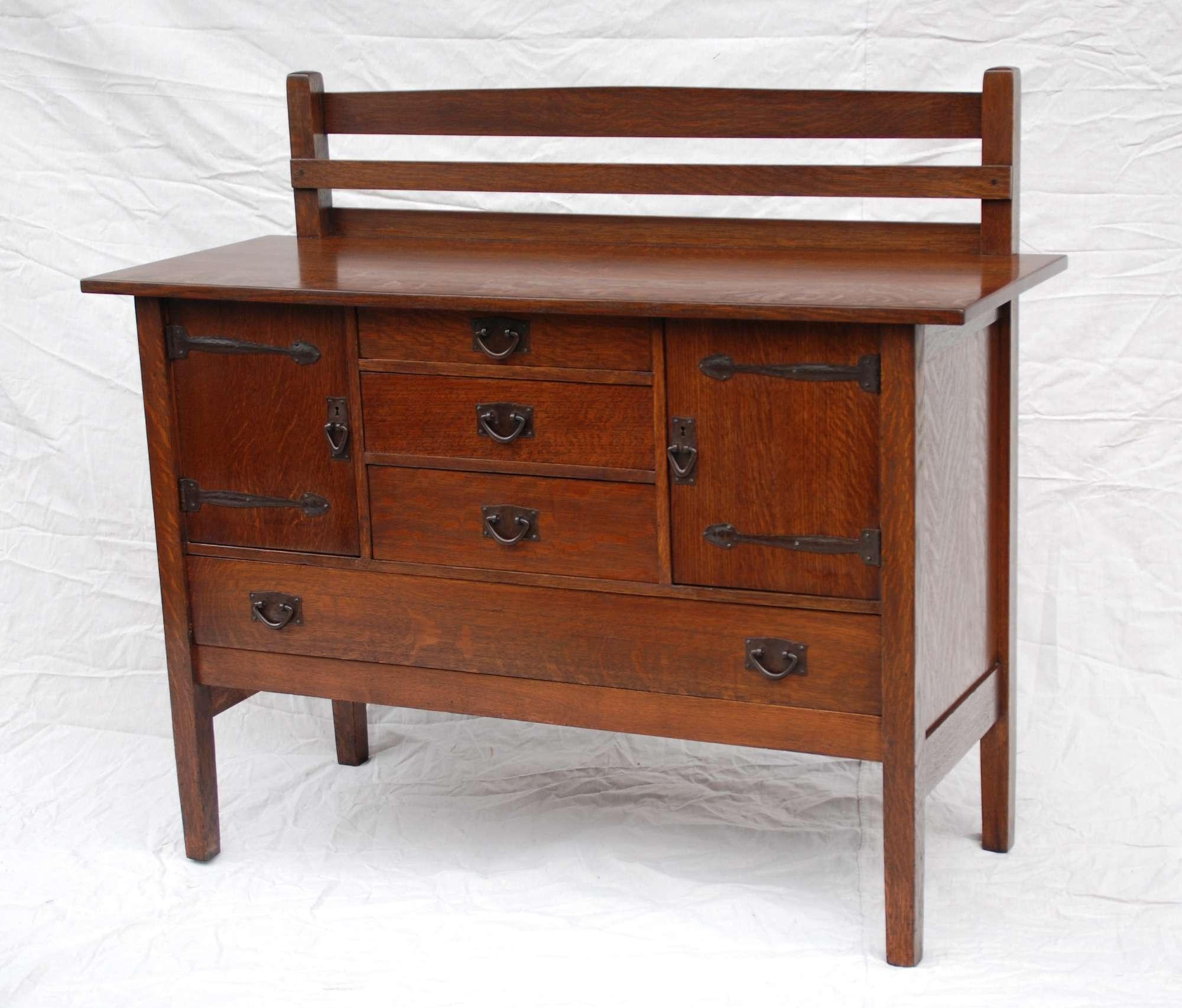Voorhees Craftsman Mission Oak Furniture – Gustav Stickley Strap Regarding Stickley Sideboards (Gallery 2 of 20)