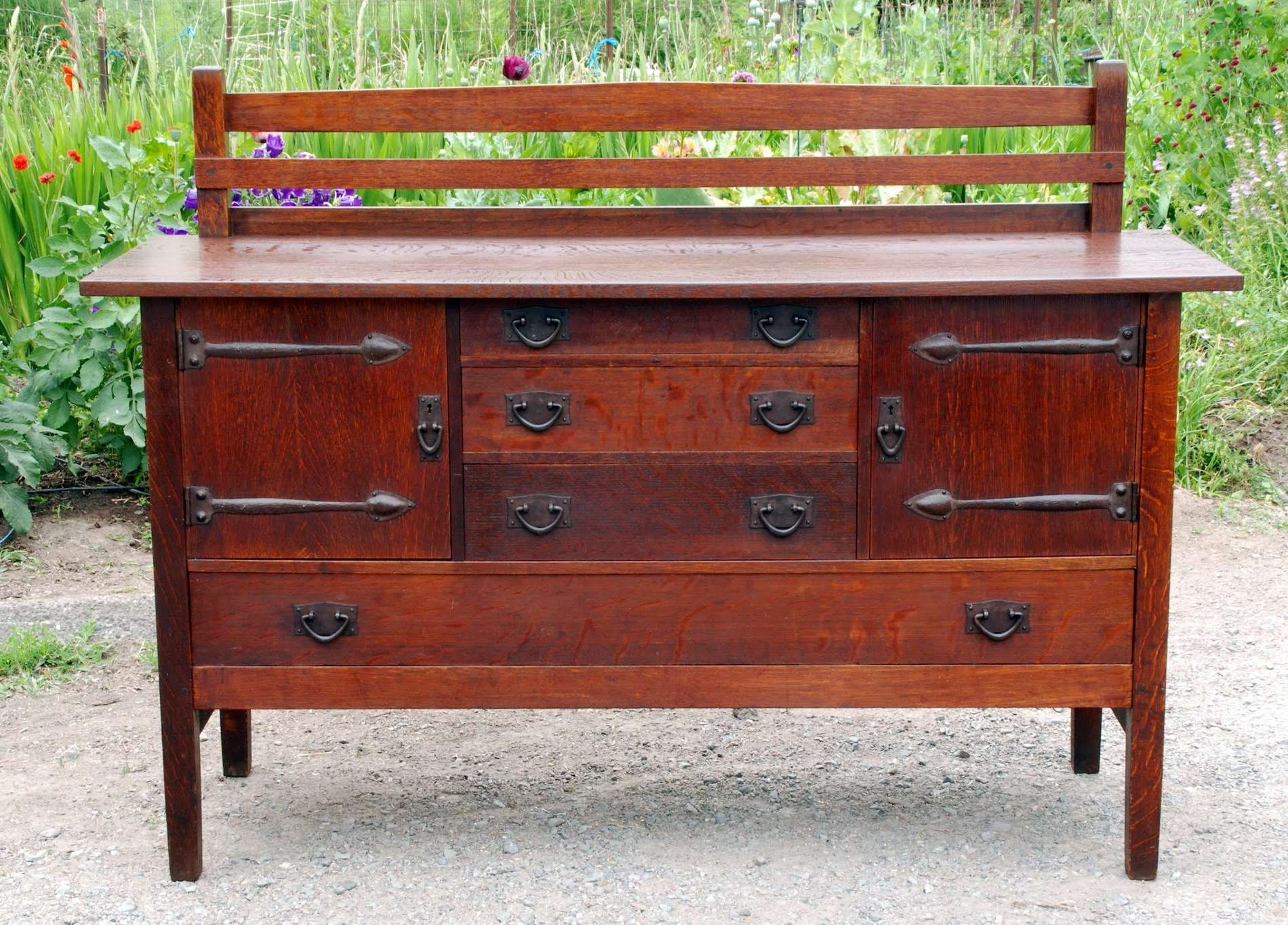 Voorhees Craftsman Mission Oak Furniture – Original Gustav With Stickley Sideboards (View 19 of 20)