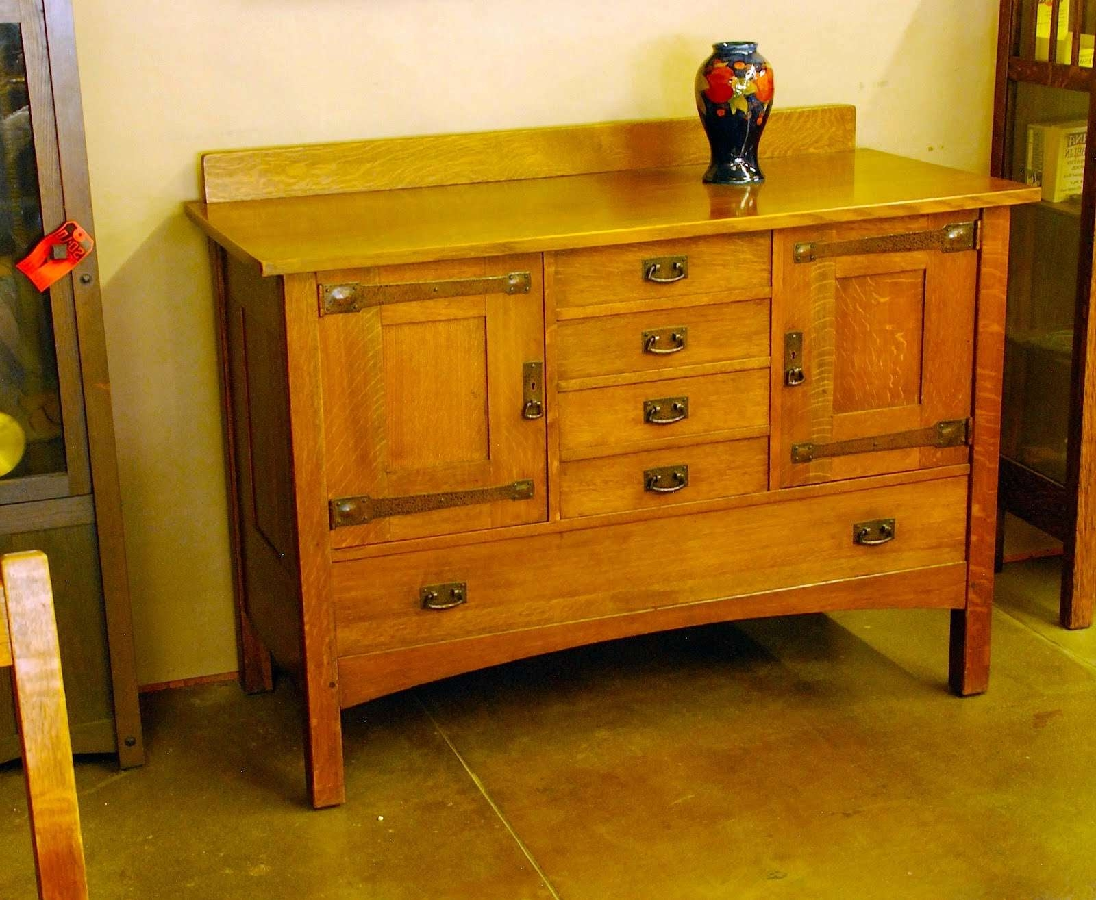 Voorhees Craftsman Mission Oak Furniture – Original L & J G Throughout Stickley Sideboards (Gallery 19 of 20)