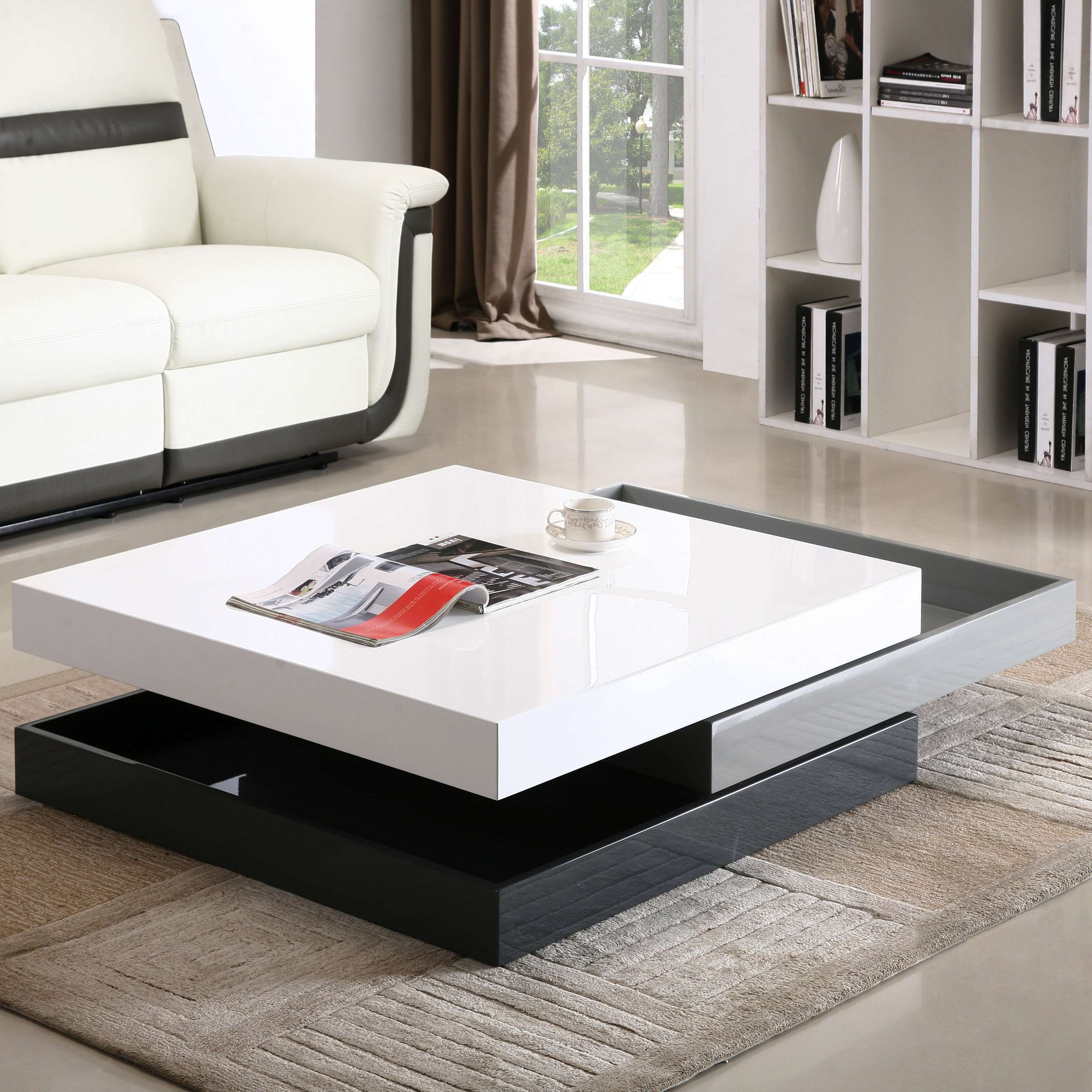Wade Logan Mcfarland Swivel Coffee Table & Reviews (View 17 of 20)