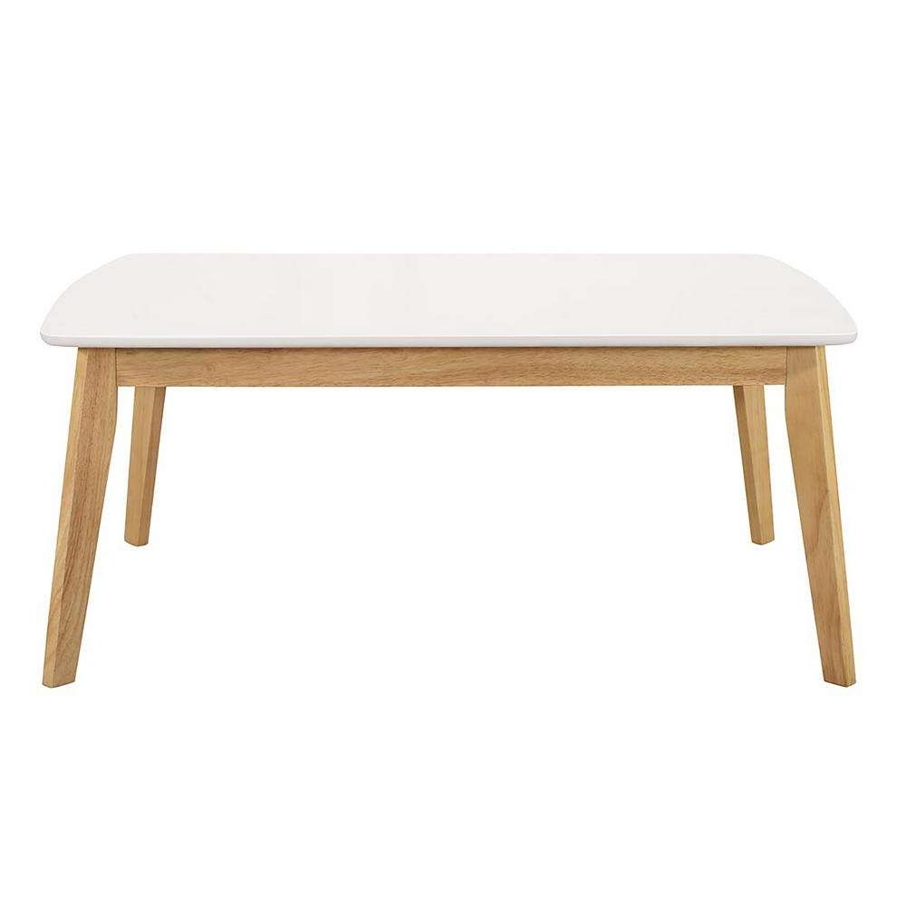 Walker Edison Furniture Company Retro Modern Coffee Table – White In Well Known Retro White Coffee Tables (View 20 of 20)