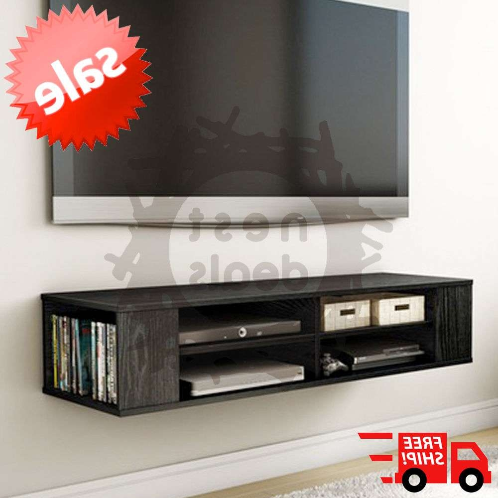 Wall Mount Media Center Shelf Floating Entertainment Console Tv For Floating Tv Cabinets (View 8 of 20)
