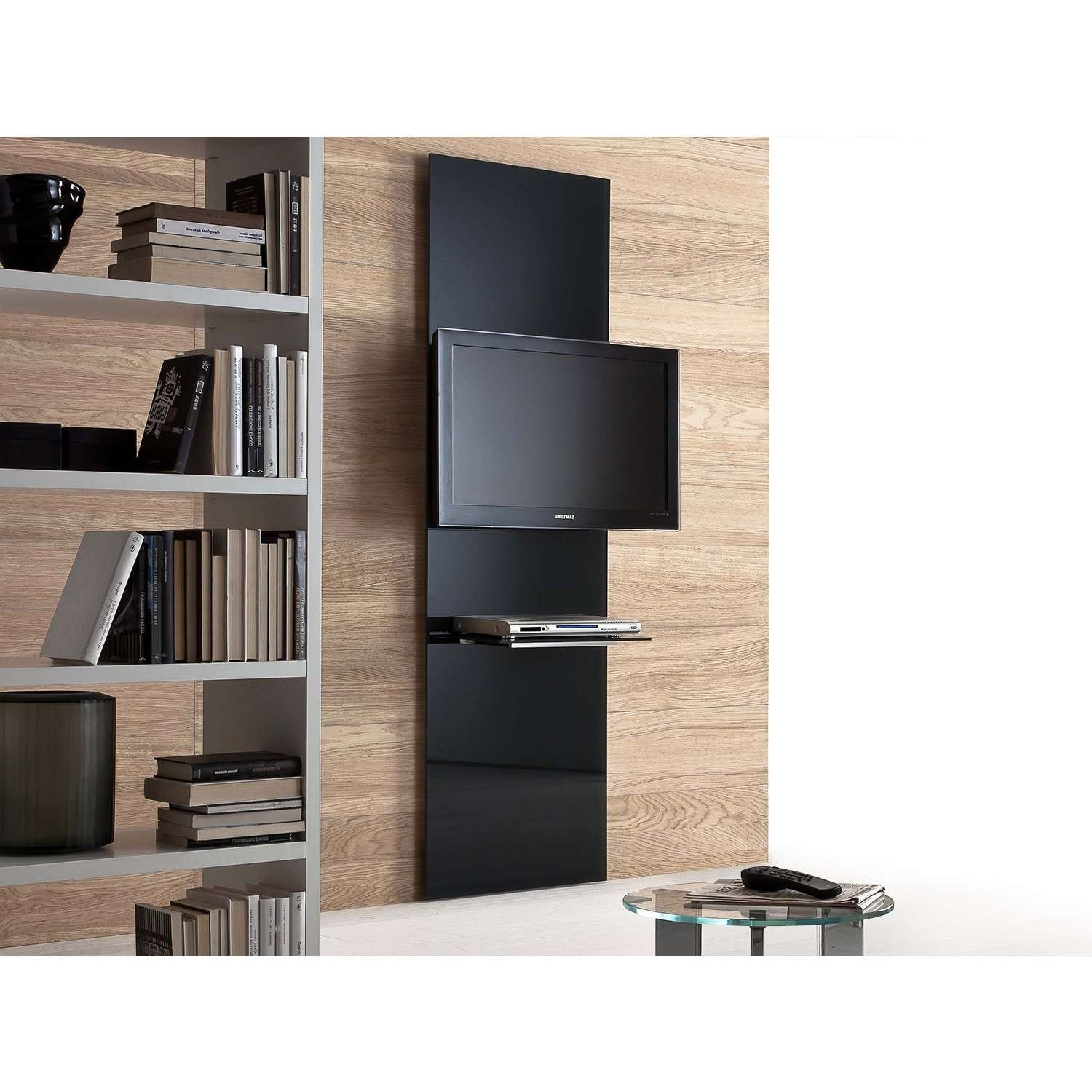 Wall Mount Tv Stands Online – Arredaclick Intended For Tv Cabinets And Bookcase (View 16 of 20)