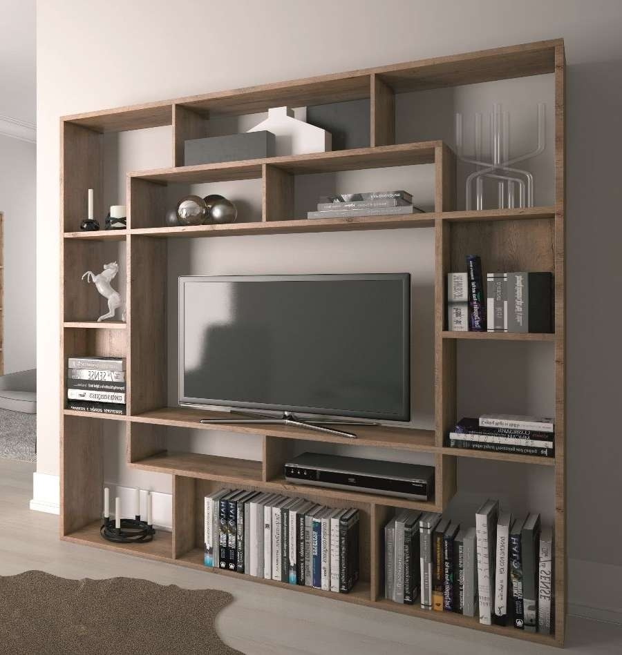 Wall Units: Glamorous Bookcase With Tv Shelf Book Shelves With Tv In Tv Cabinets And Bookcase (View 13 of 20)
