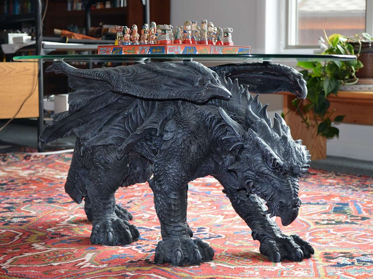 Warwickshire Dragon Glass Topped Coffee Table – Paolini Inside Most Recent Dragon Coffee Tables (View 15 of 20)