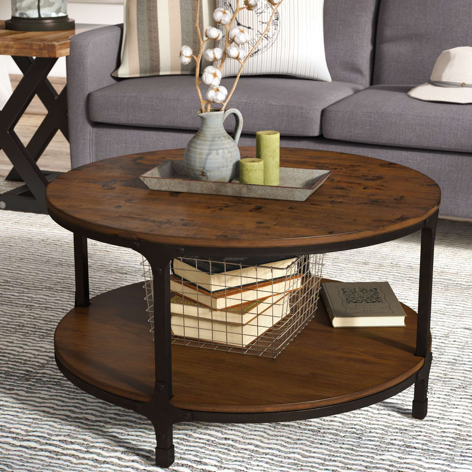 Wayfair Within Popular Small Circle Coffee Tables (View 19 of 20)