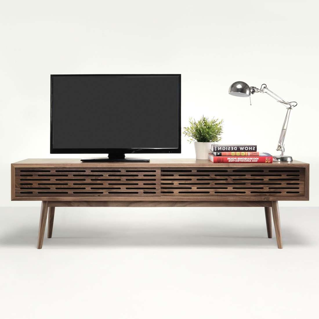 We Wood Radio Solid Walnut Tv Cabinet | Radio Solid Walnut Tv Within Walnut Tv Cabinets (View 11 of 20)