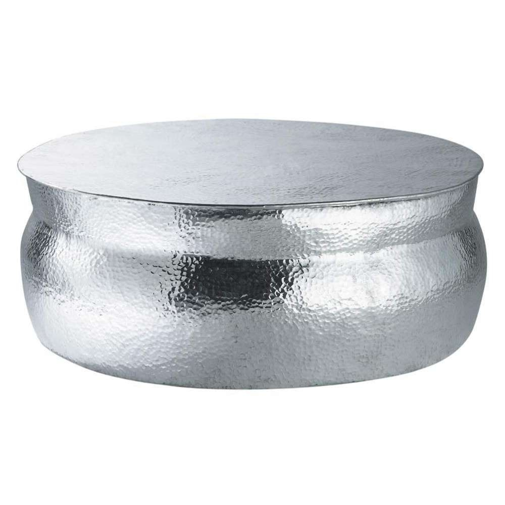 Well Known Aluminium Coffee Tables In Aluminium Round Coffee Table D 91Cm (View 16 of 20)