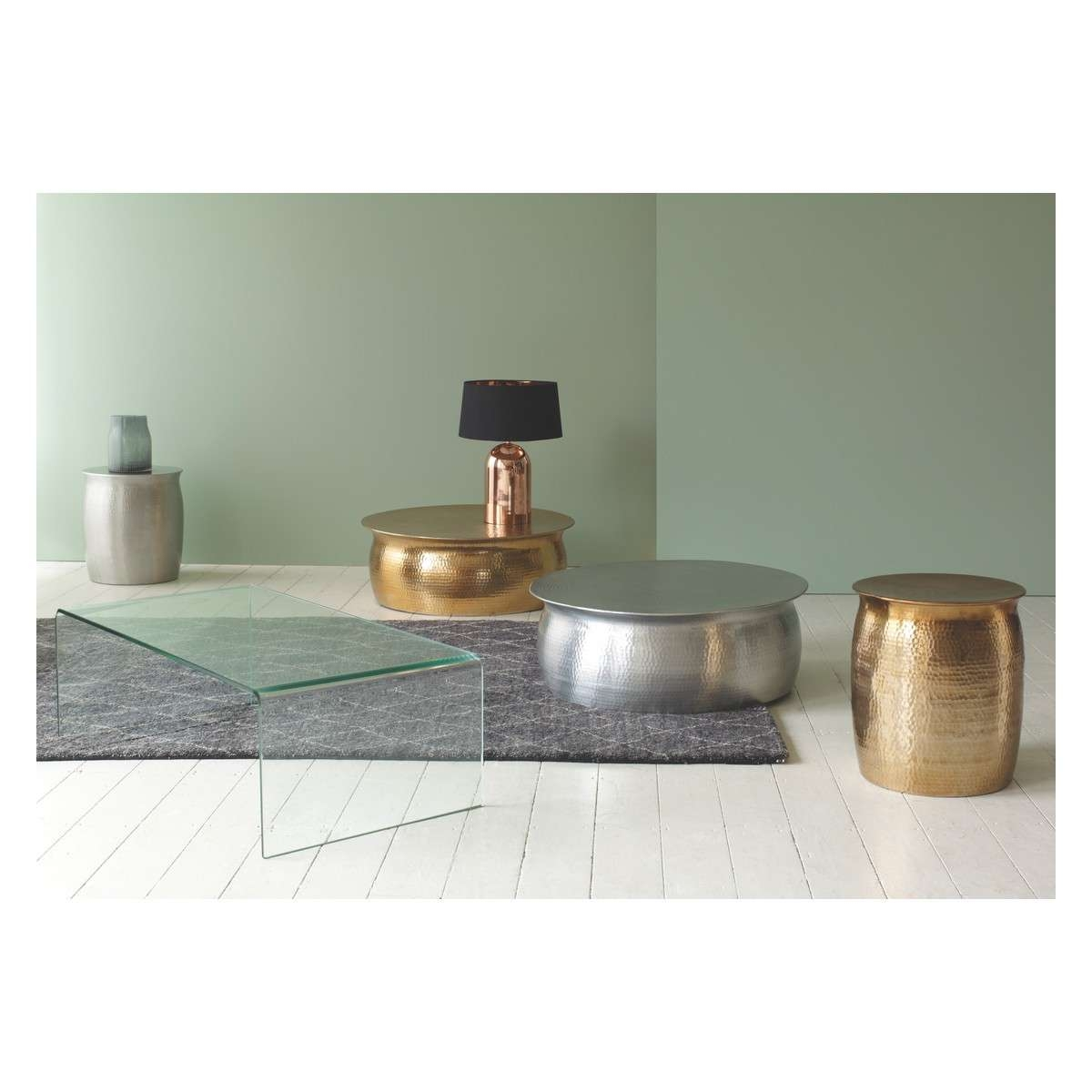 Well Known Aluminium Coffee Tables Inside Orrico Hammered Aluminium Coffee Table Buy Now At Habitat Uk (View 20 of 20)