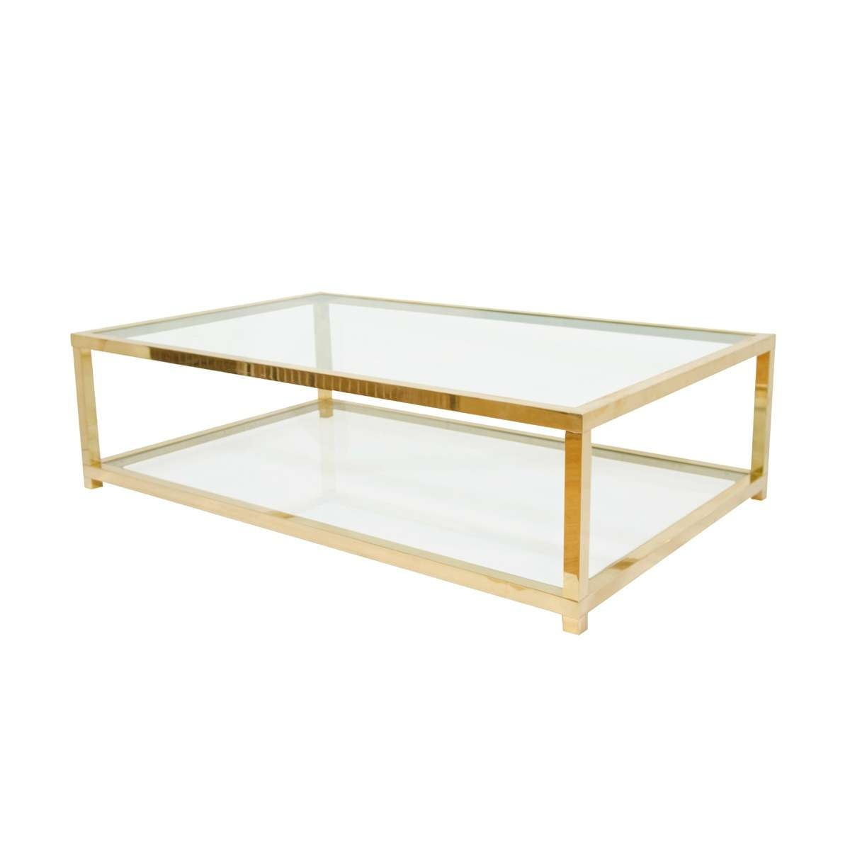 Well Known Antique Brass Glass Coffee Tables Throughout Brass Glass Coffee Table Set Classic Vintage French 55 Square Two (View 8 of 20)