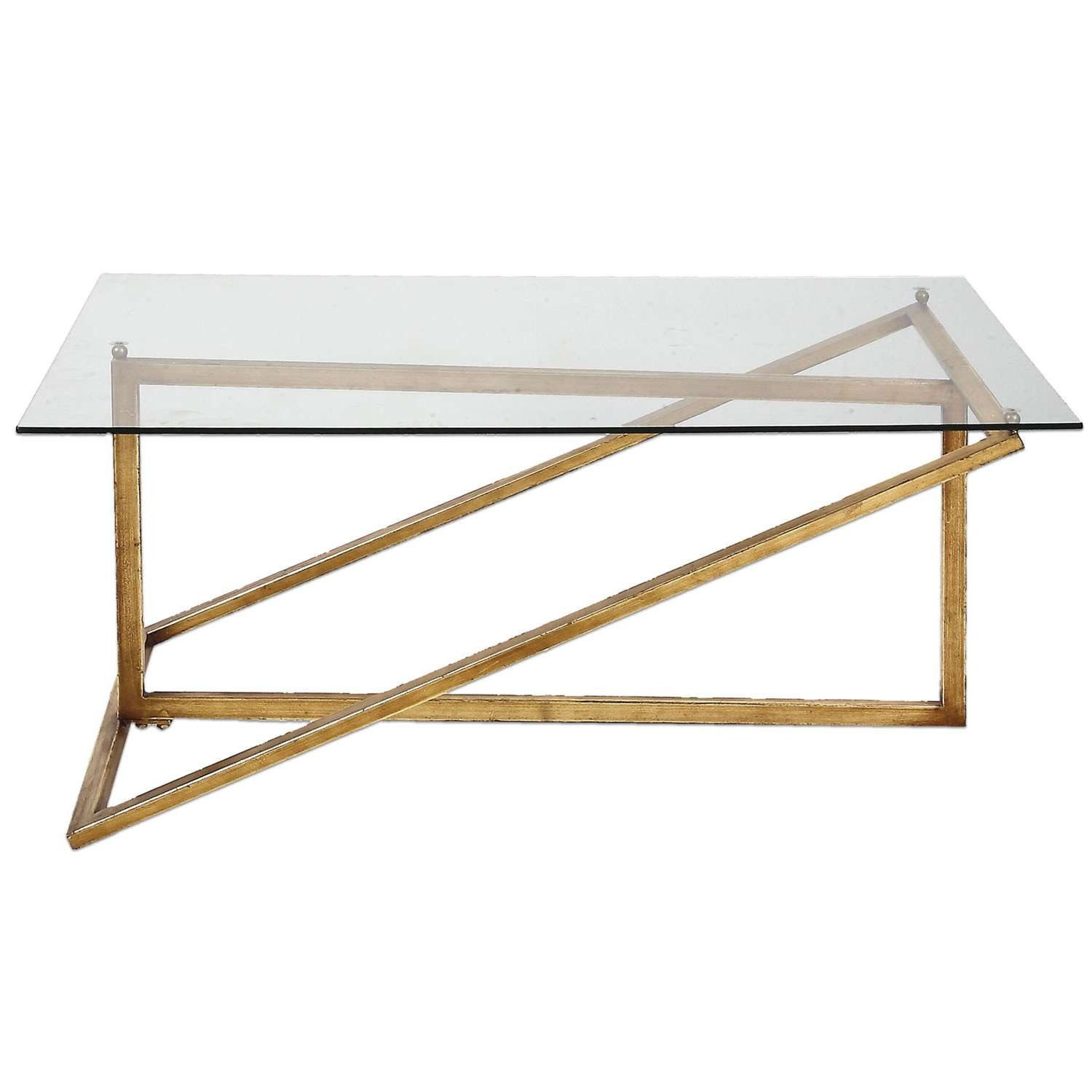 Well Known Antique Glass Coffee Tables With Uttermost Zerrin Antique Gold Glass Coffee Table On Sale (View 9 of 20)