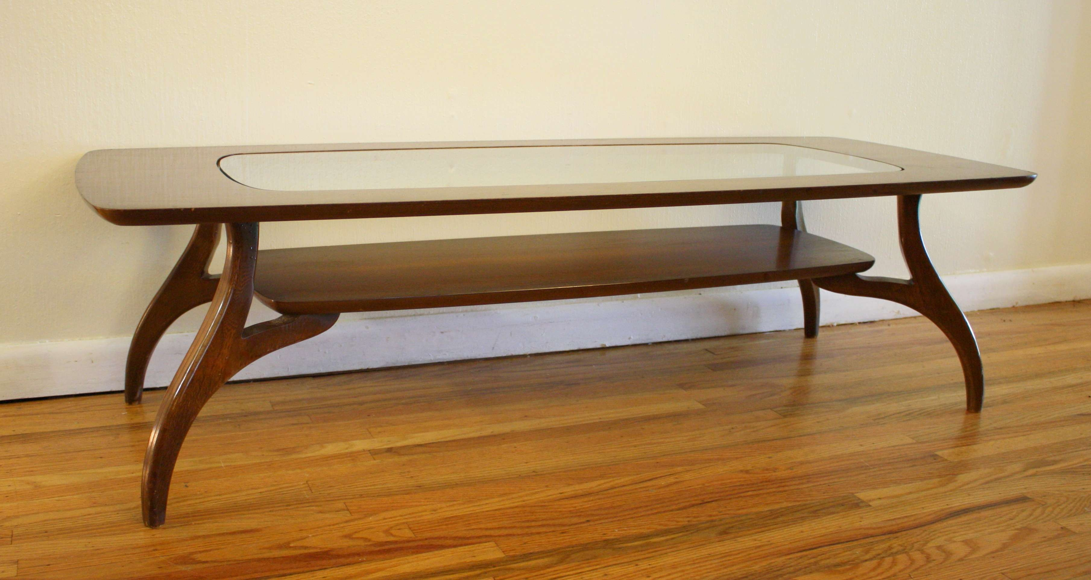 Well Known Antique Glass Top Coffee Tables Within Mcm Coffee Table Glass Top  (View 19 of 20)