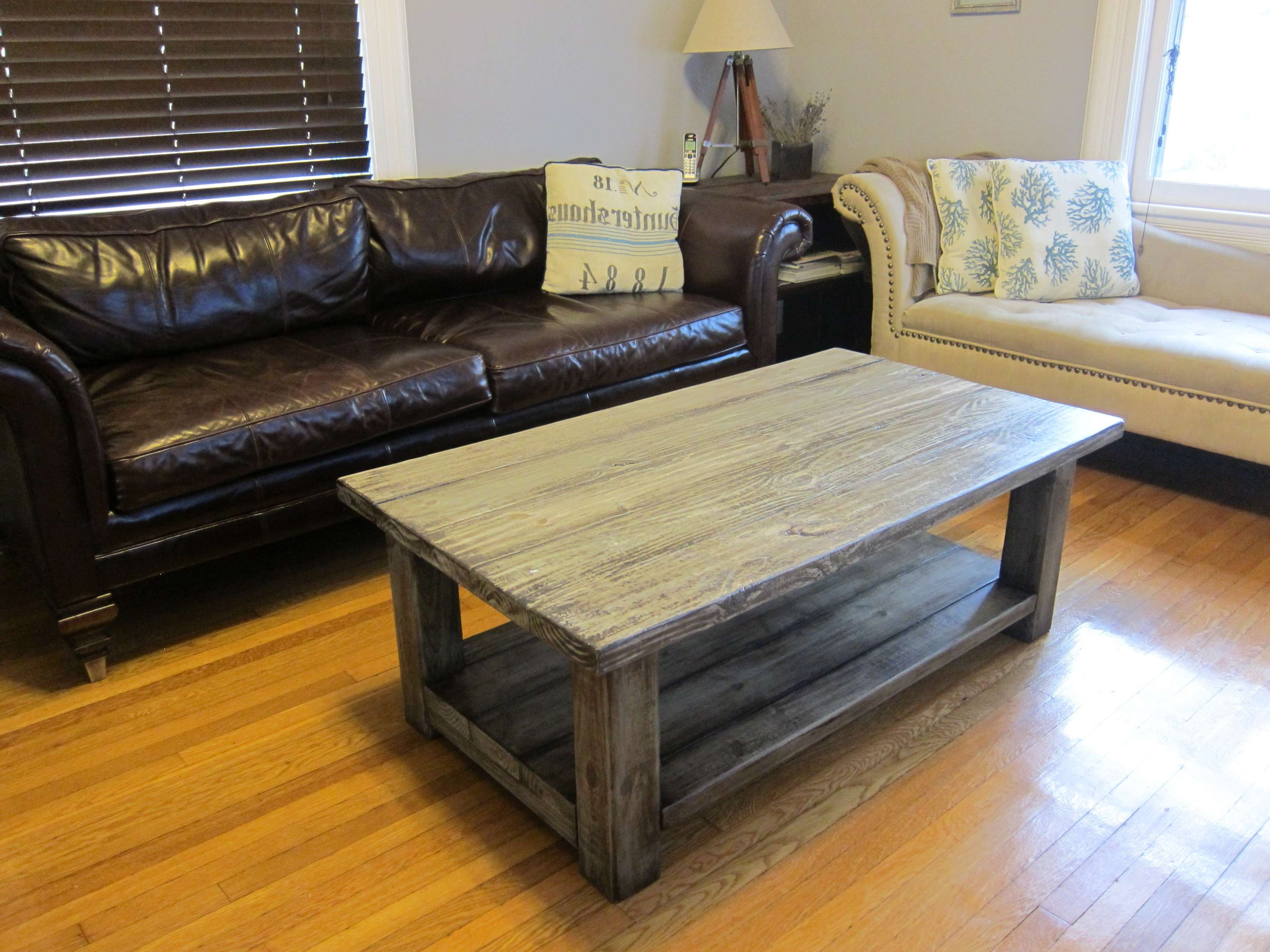 Well Known Antique Rustic Coffee Tables Within Coffee Tables : Breathtaking Grey Rectangle Minimalist Wood Coffee (View 18 of 20)