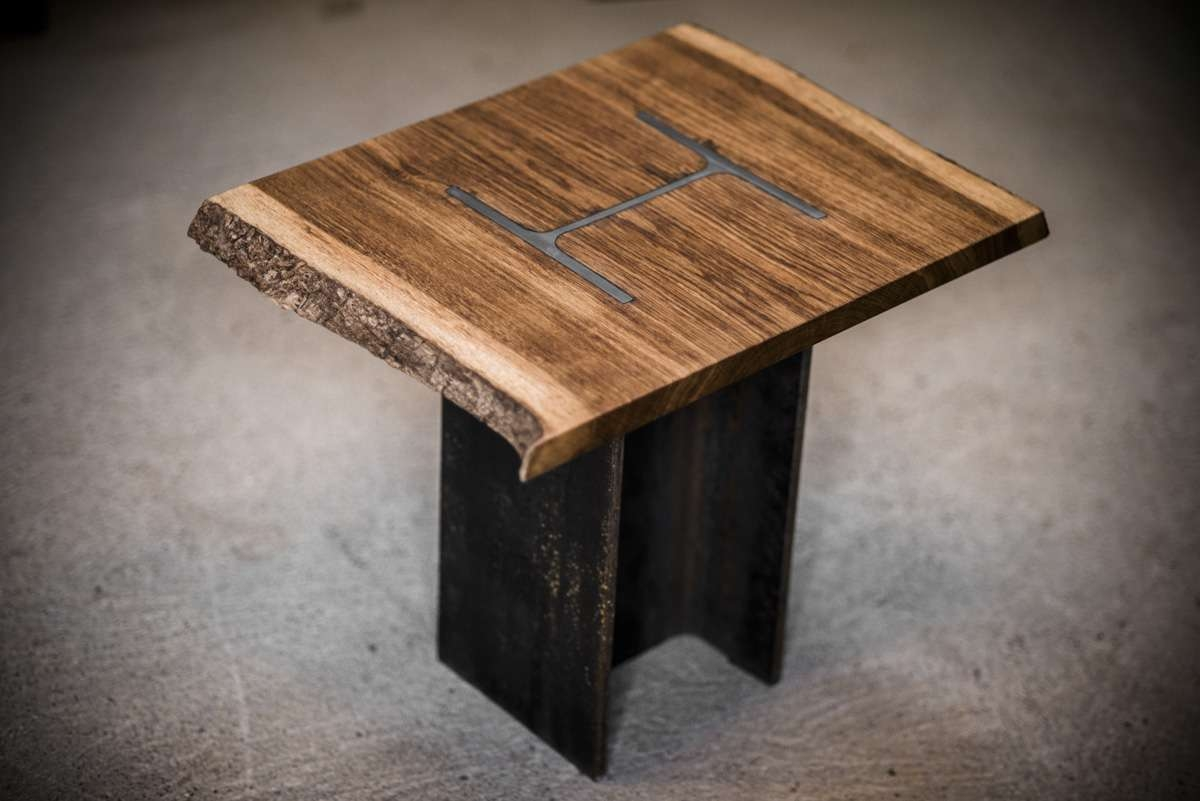 Well Known Bespoke Coffee Tables Inside H Column Coffee Table – Bespoke, Handmade Furniture From English Oak (View 16 of 20)