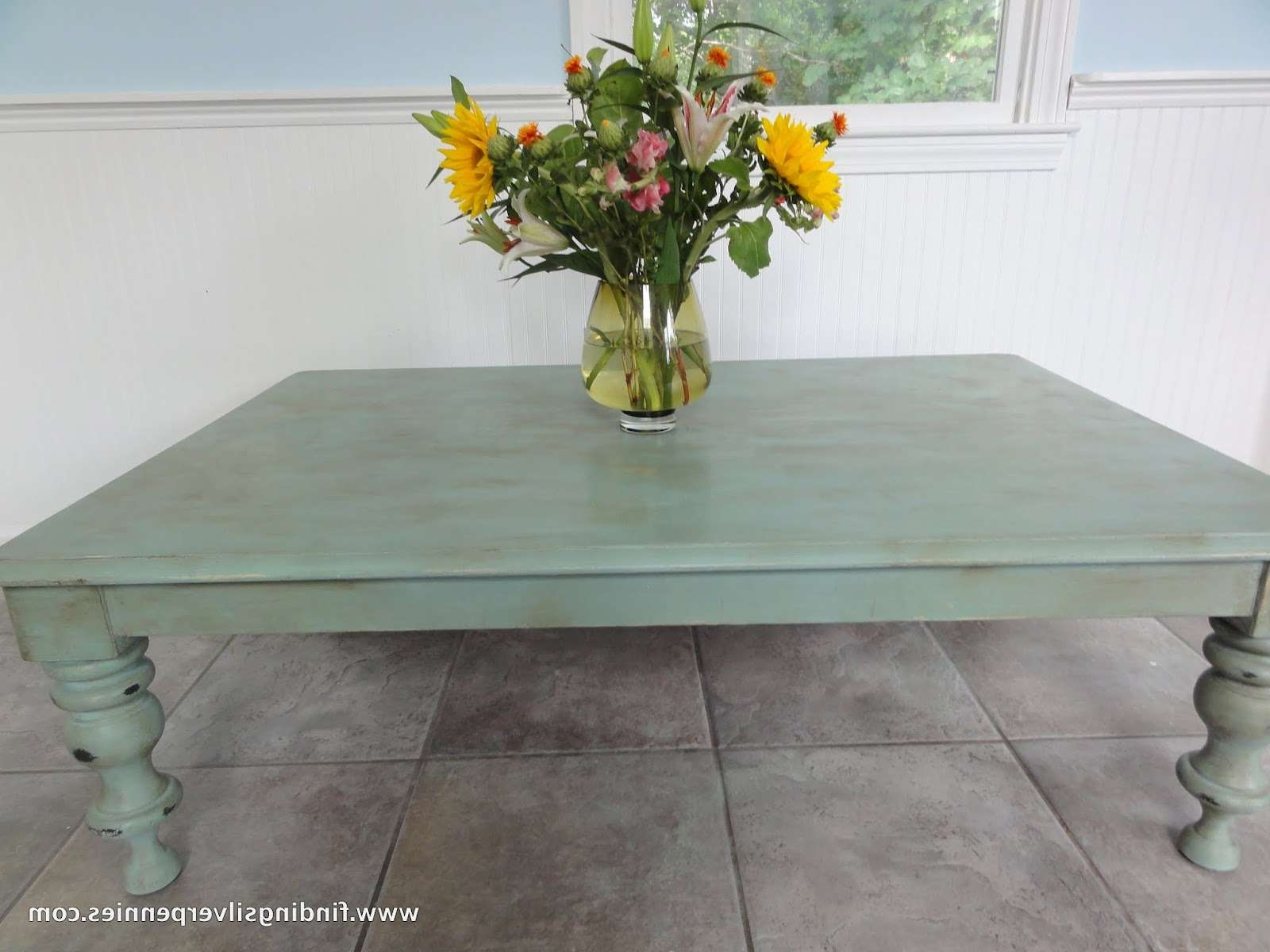 Well Known Blue Coffee Tables Pertaining To Shabby Chic (Before & After) – Finding Silver Pennies (View 17 of 20)