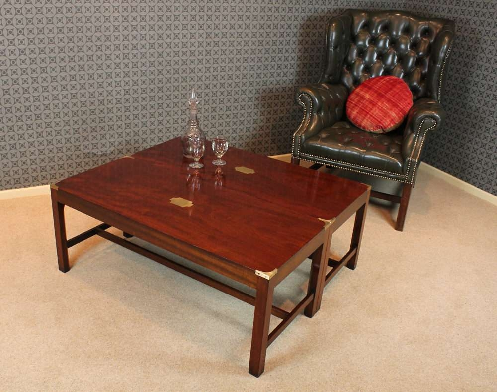 Well Known Campaign Coffee Tables Throughout Antiques Atlas – Pair Campaign Style Coffee Tables (View 10 of 20)