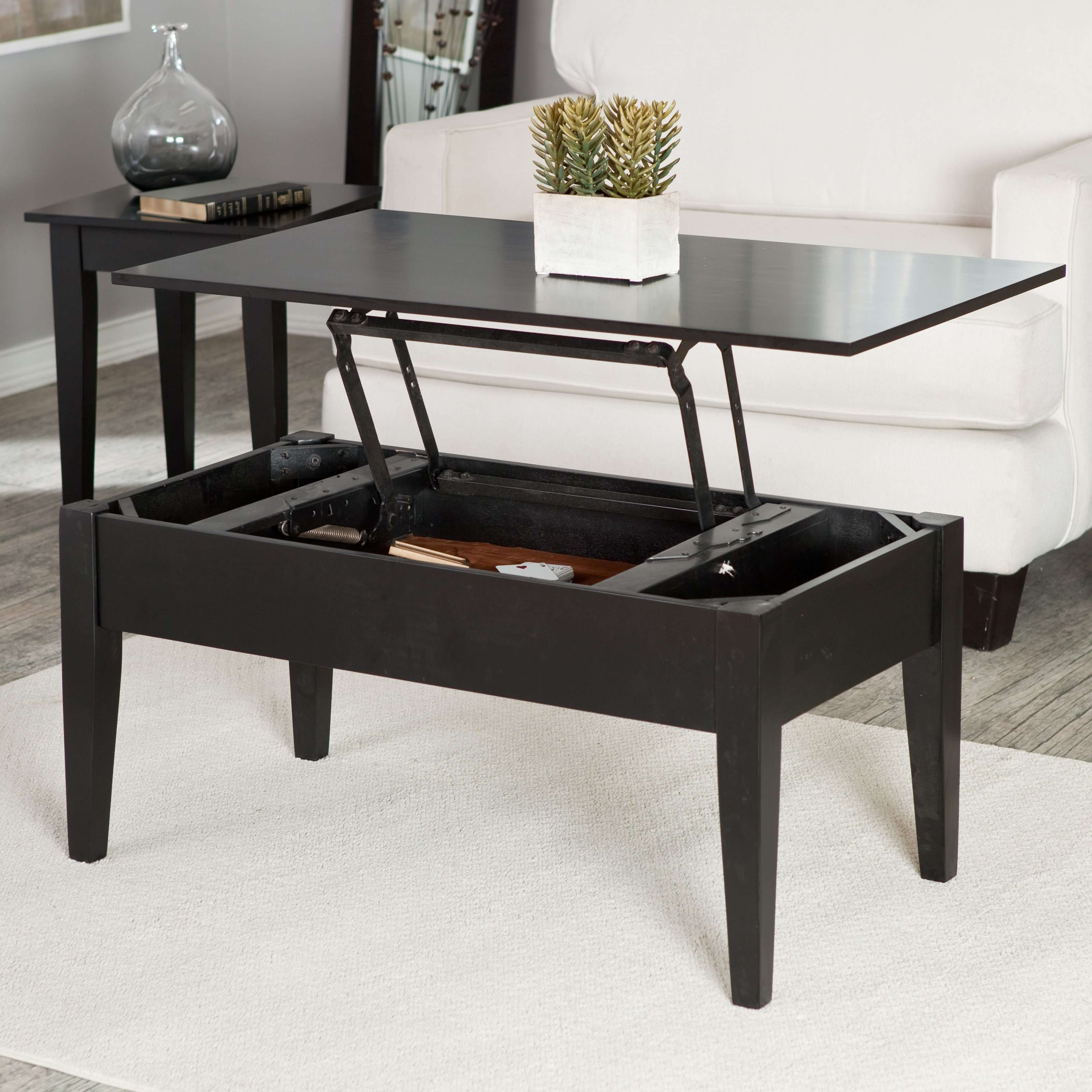 Well Known Cheap Lift Top Coffee Tables In Turner Lift Top Coffee Table – Black (View 17 of 20)