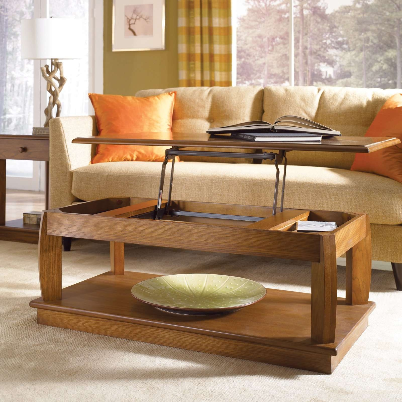 Well Known Coffee Tables And Side Table Sets Inside Interior : Comfy Mahogany Unstained Square Coffee Table Ideas With (View 10 of 20)