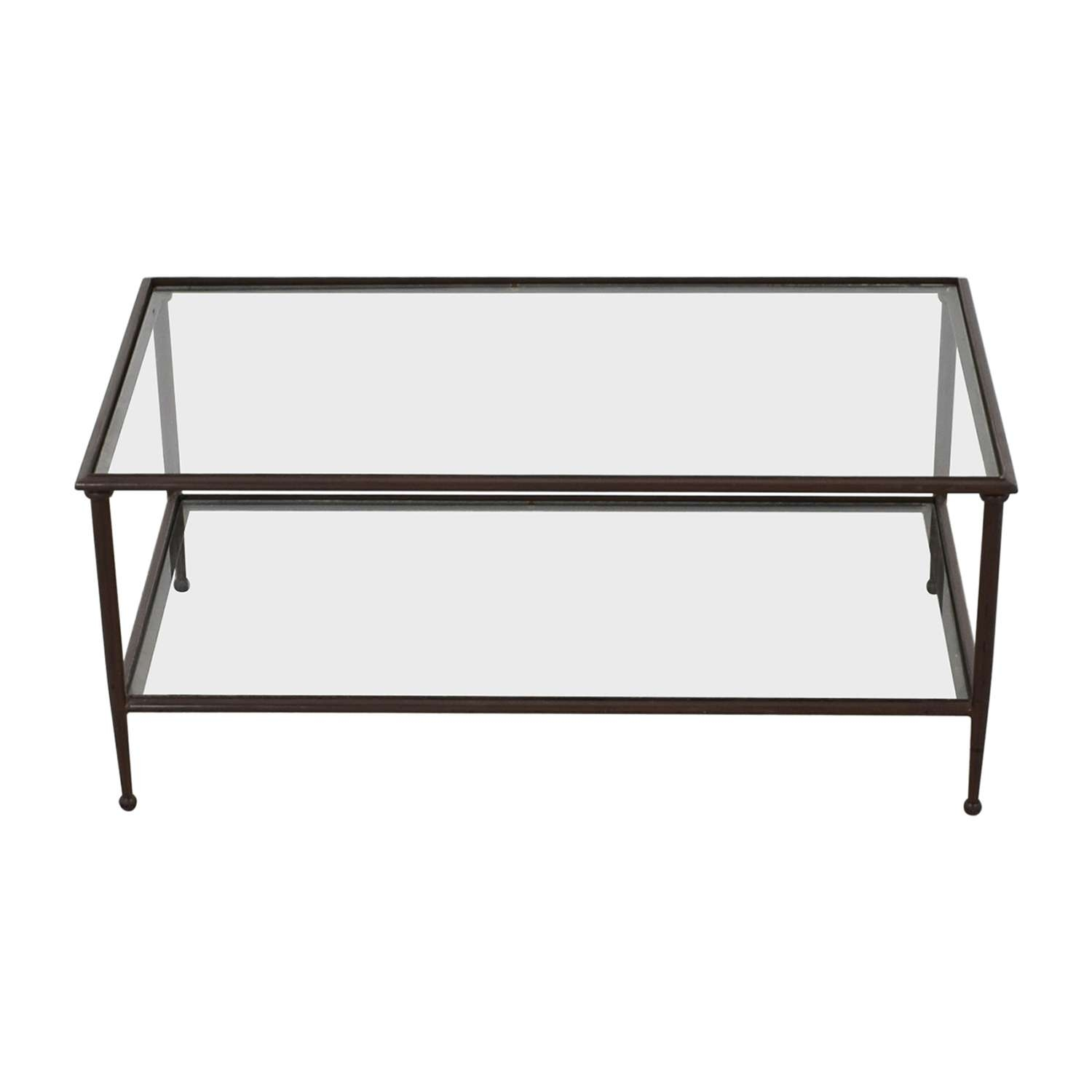 [%Well Known Coffee Tables Metal And Glass Within 72% Off – Wood Metal Scroll And Glass Coffee Table / Tables|72% Off – Wood Metal Scroll And Glass Coffee Table / Tables Throughout Fashionable Coffee Tables Metal And Glass%] (View 1 of 20)