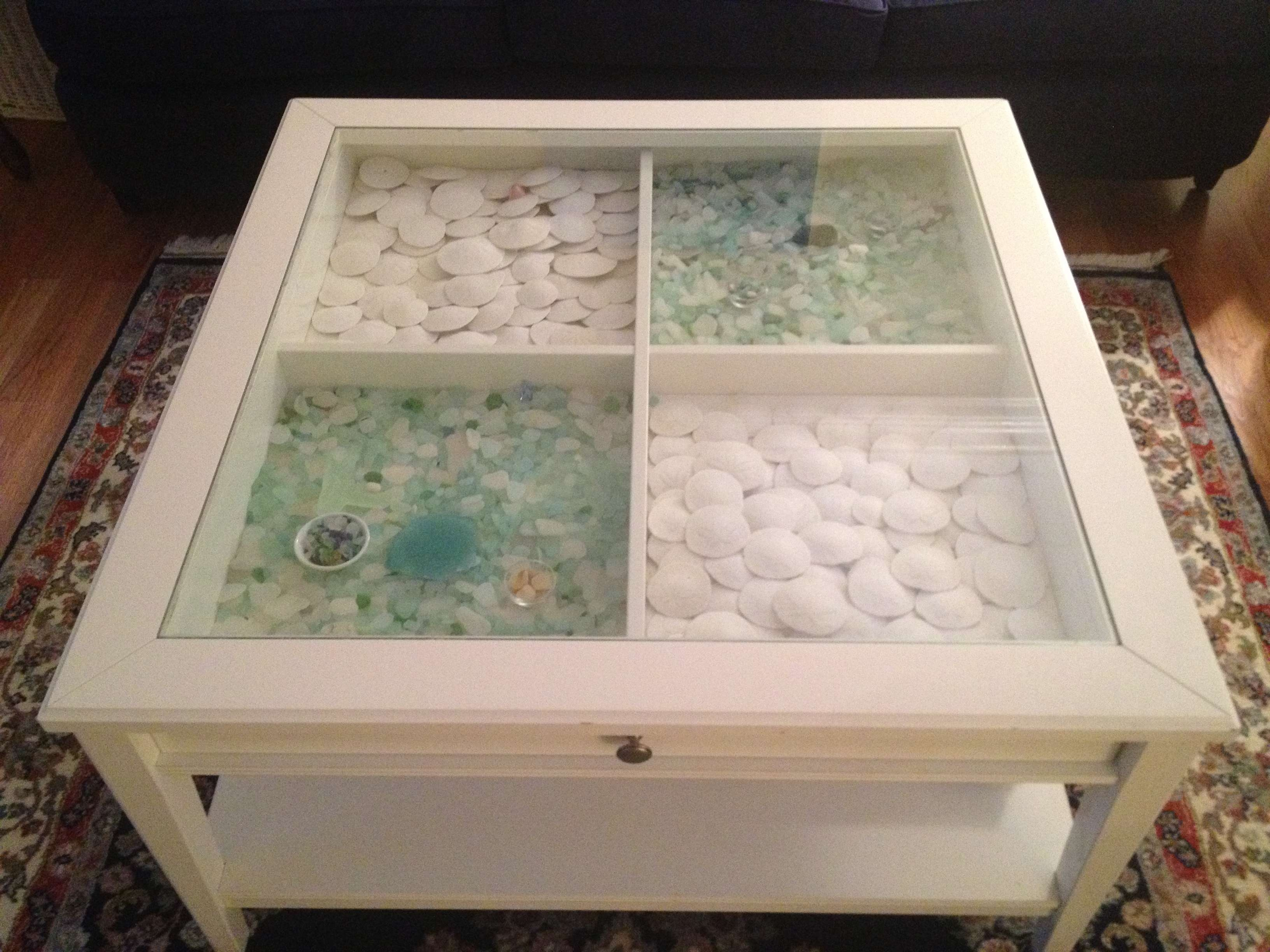 Well Known Coffee Tables With Glass Top Display Drawer Intended For Table