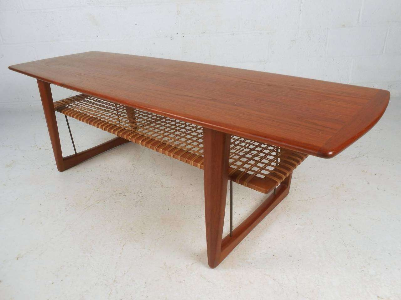 Well Known Coffee Tables With Shelves Regarding Danish Modern Coffee Table After Peter Hvidt For Sale At 1stdibs (View 3 of 20)