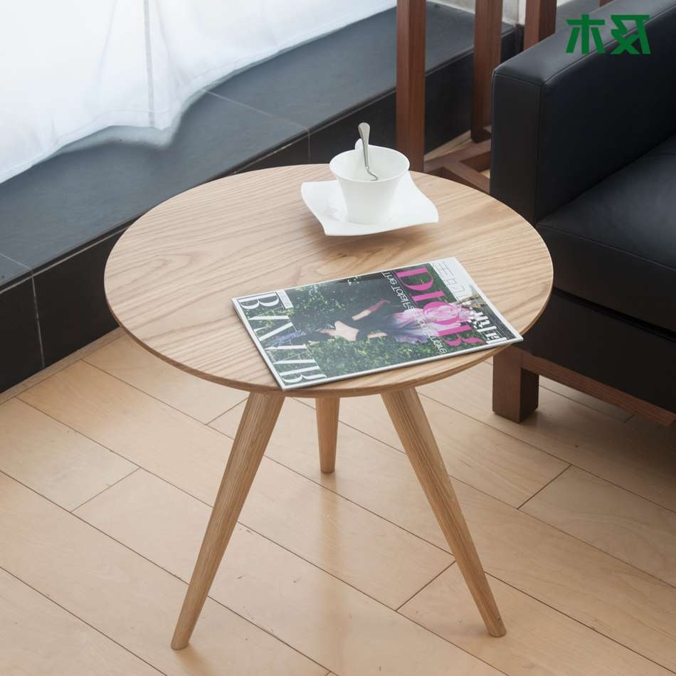 Well Known Contemporary Oak Coffee Table With Creative Modern Minimalist Furniture And Wood Side Table (View 7 of 20)