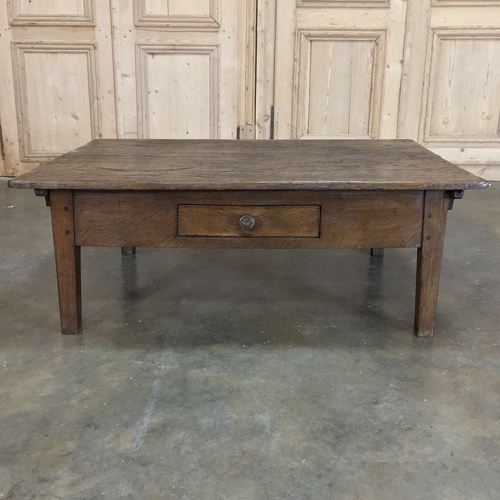 Well Known Country French Coffee Tables With Regard To 19th Century Rustic Country French Coffee Table – Inessa Stewart's (View 9 of 20)