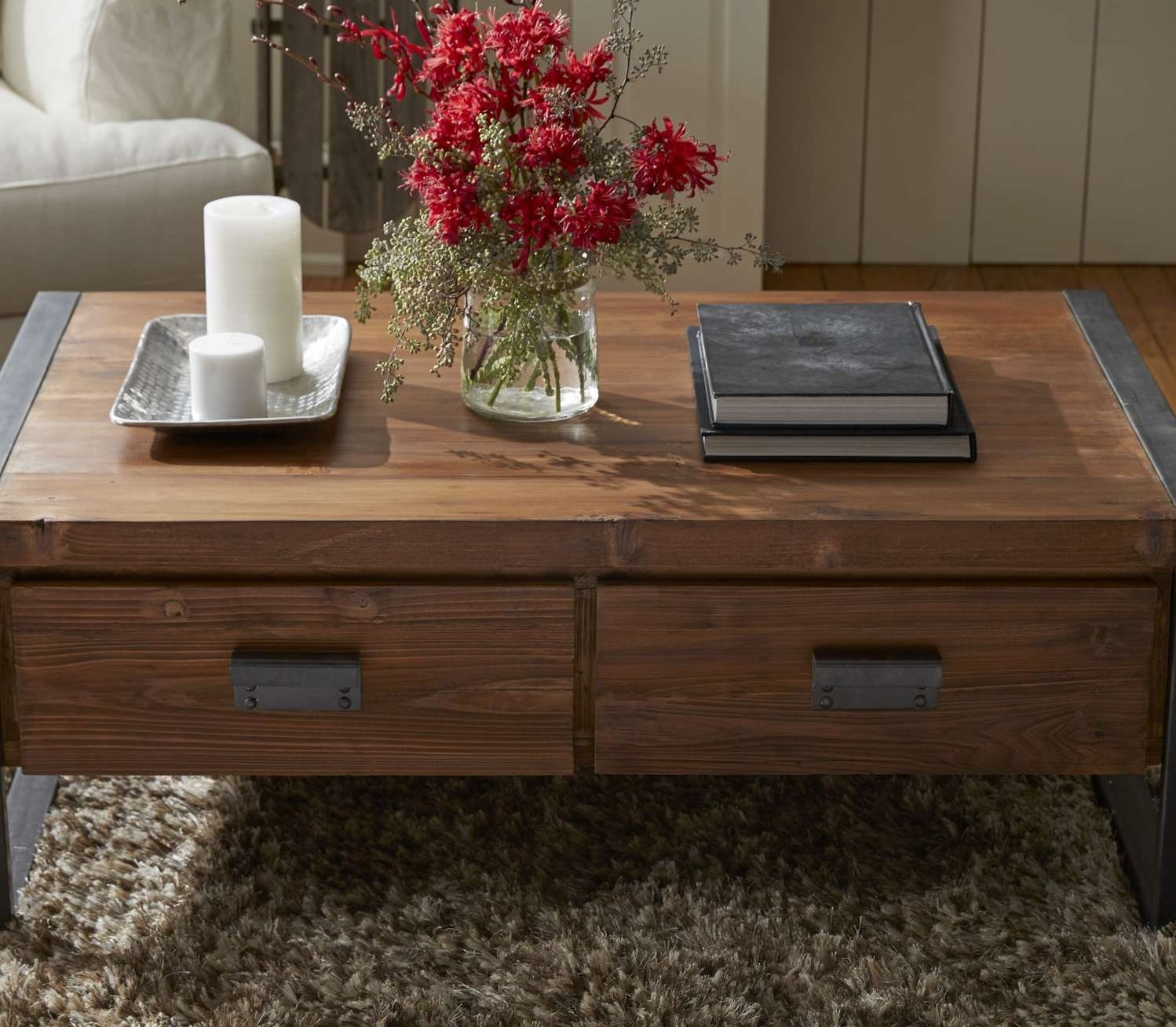 Well Known Cream Coffee Tables With Drawers Inside Coffee Tables : Furniture Vintage Square Mahogany Coffee Table (View 14 of 20)