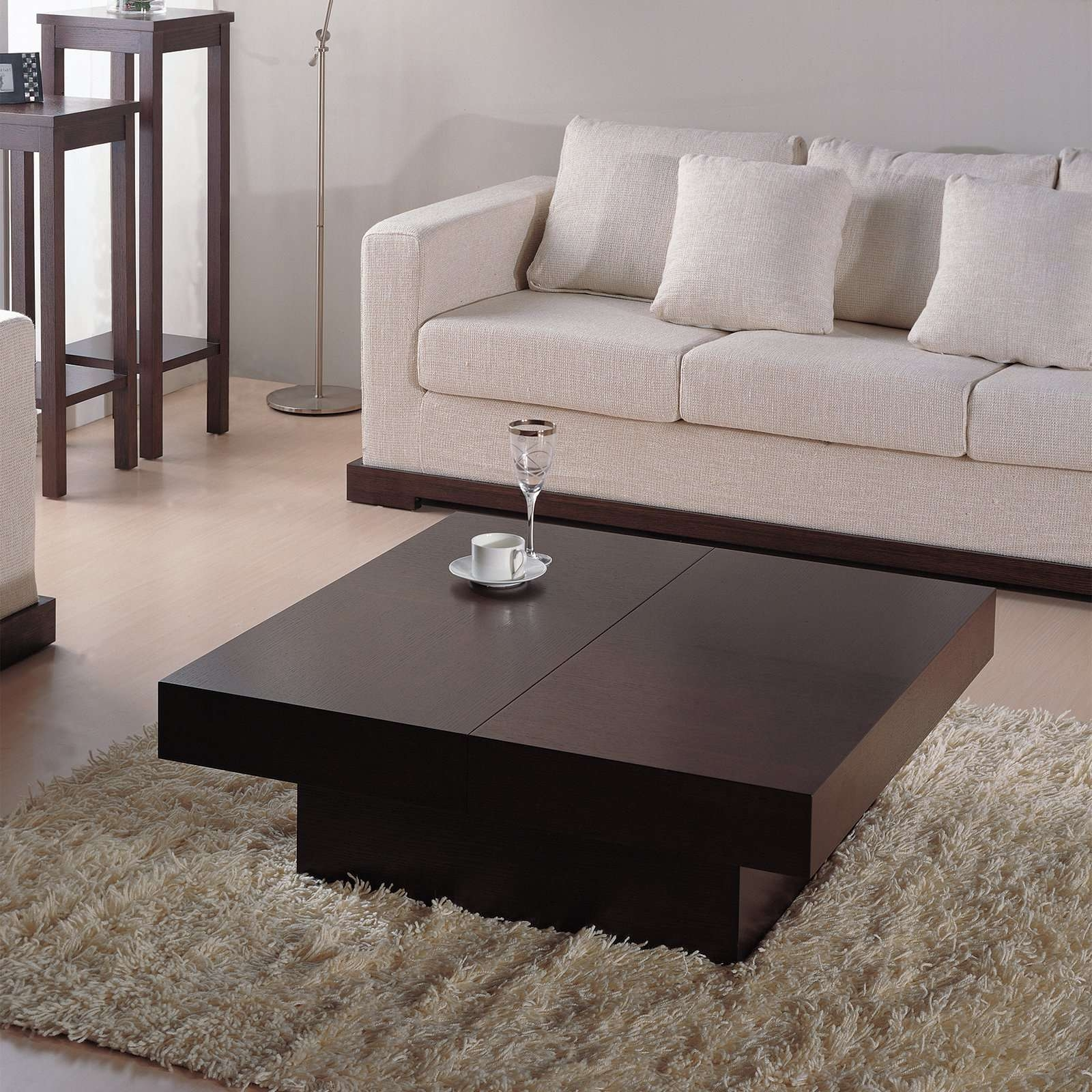 Well Known Dark Brown Coffee Tables In Nile Square Coffee Table U2013 Dark Brown  Oak (