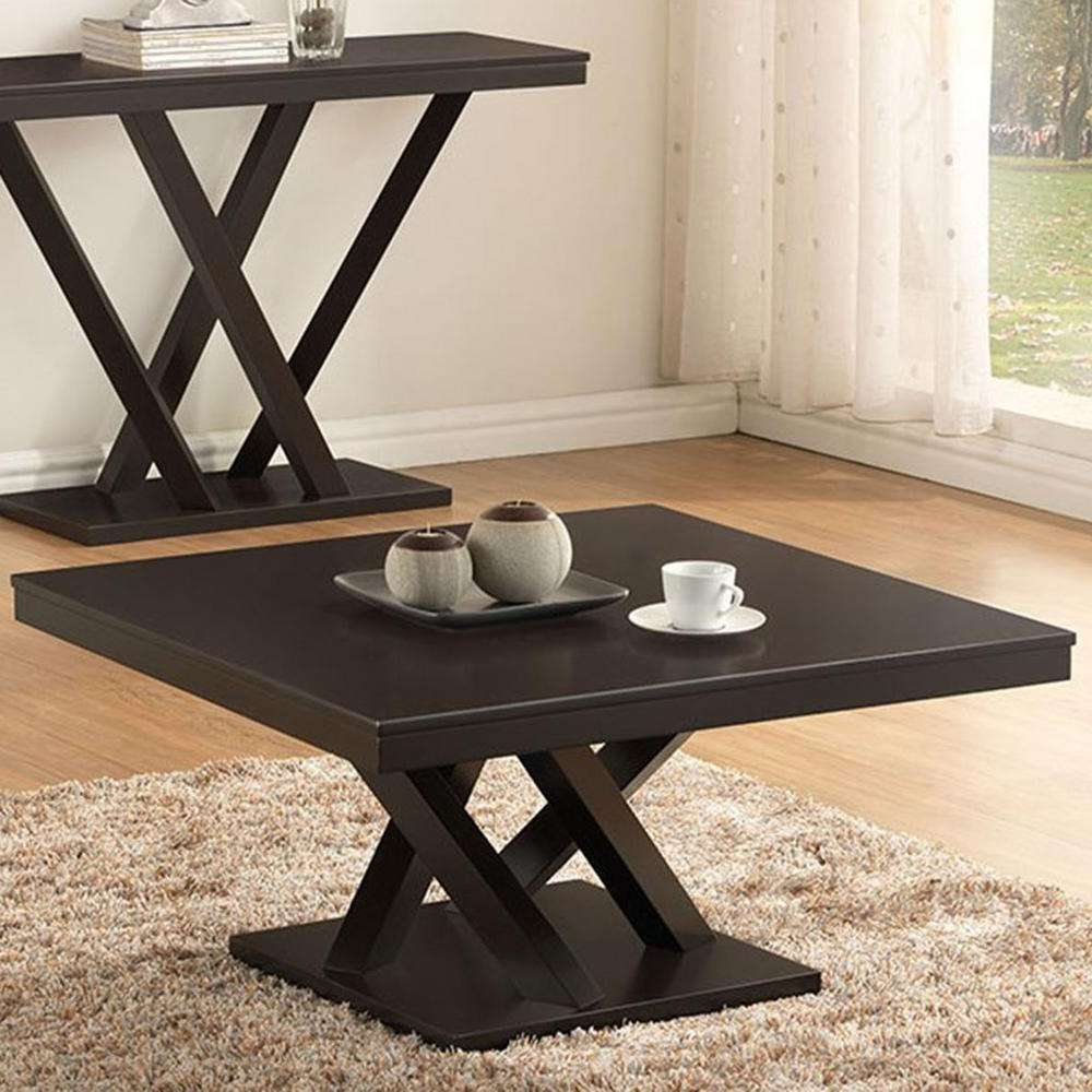 Well Known Dark Brown Coffee Tables Pertaining To Baxton Studio Everdon Dark Brown Coffee Table 28862 4968 Hd – The (View 4 of 20)